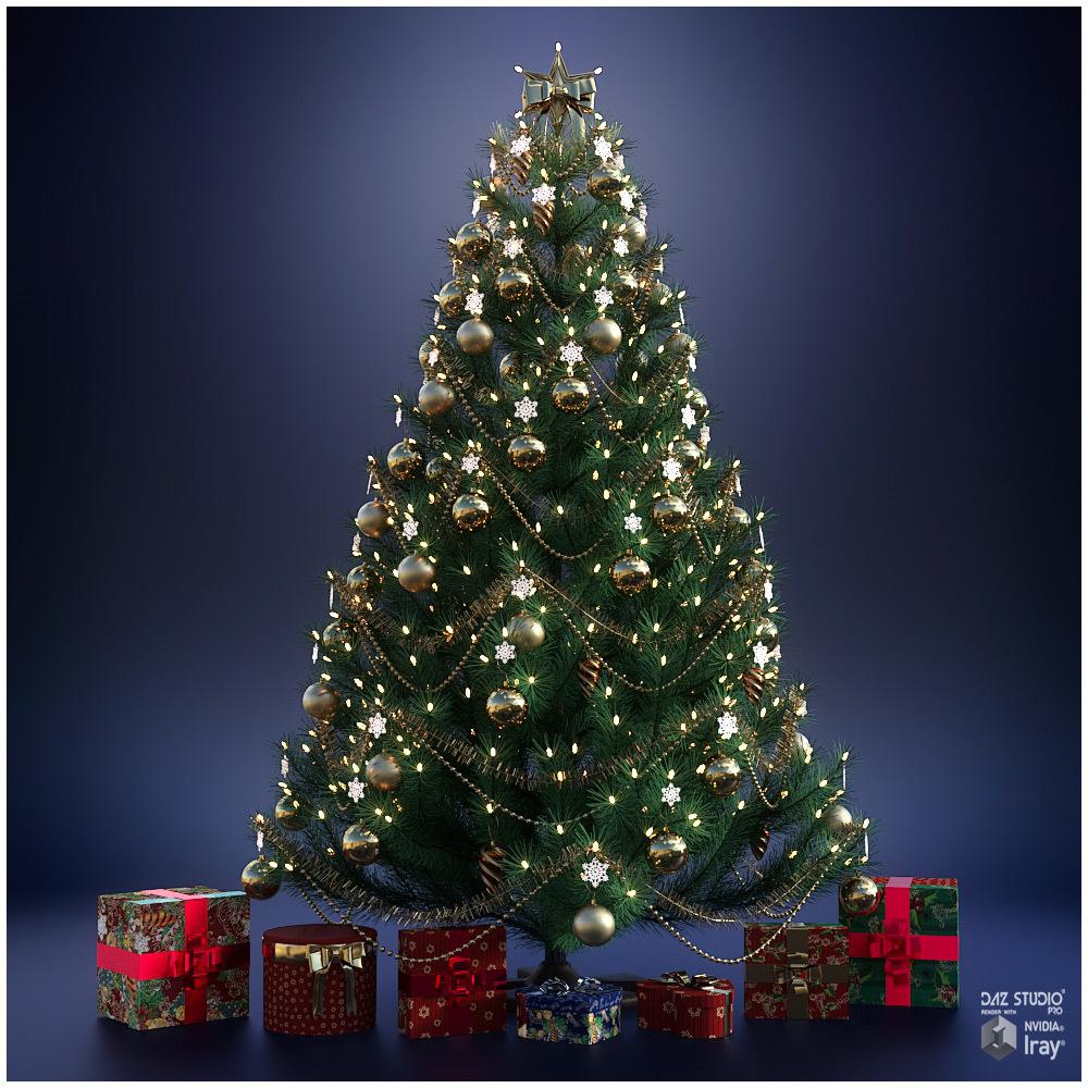 Christmas Tree_DAZ3D下载站