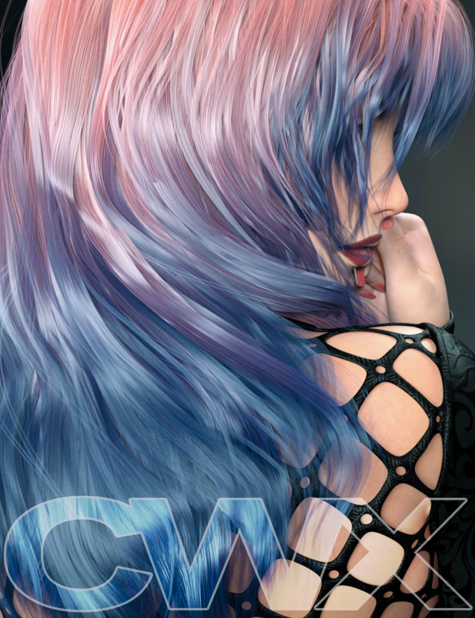 ColorWerks Extreme: Hair Texture Blending for Iray and dForce Hair_DAZ3D下载站