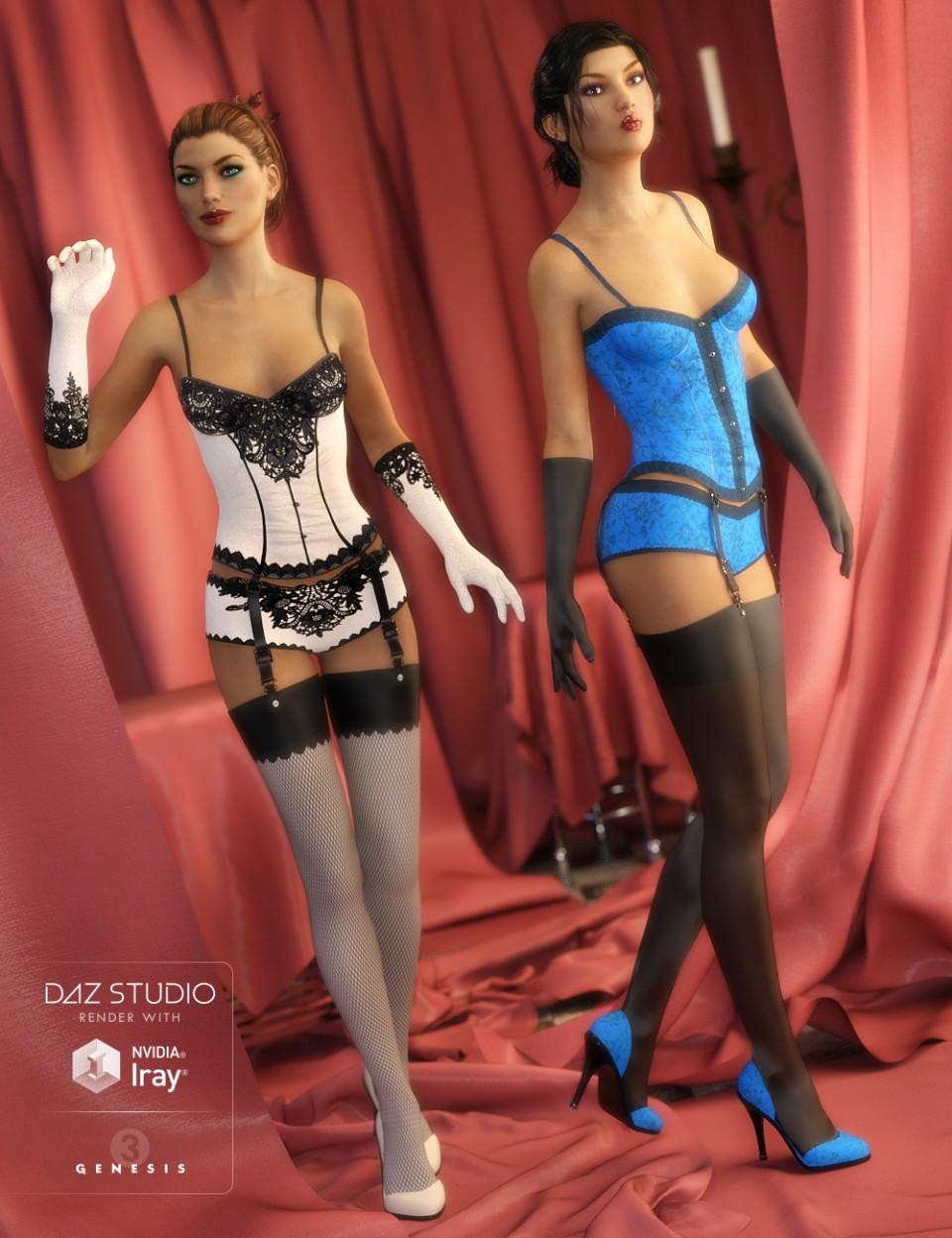 Corset Lingerie Textures_DAZ3D下载站
