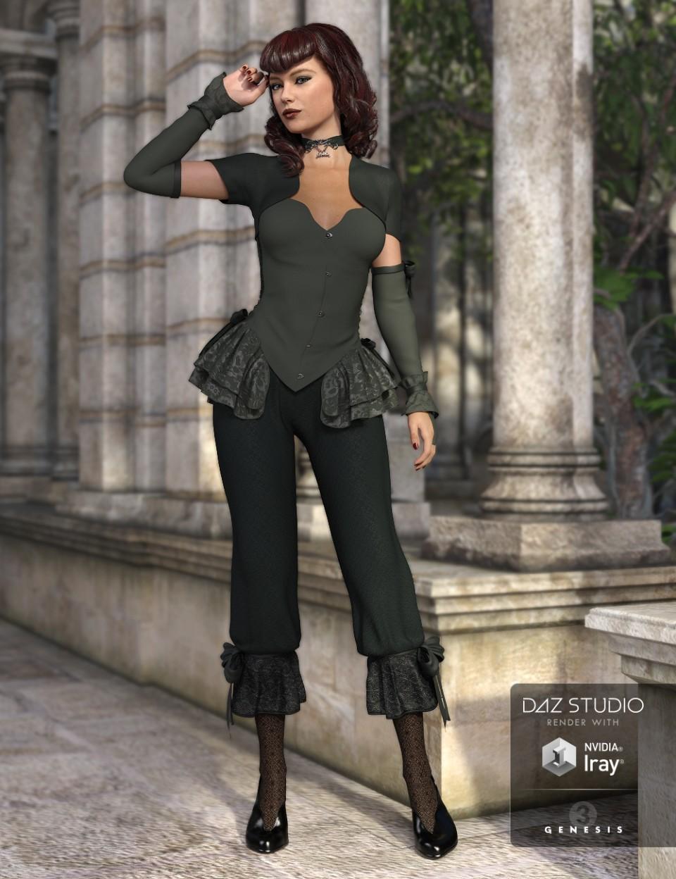 Dark Silence for Genesis 3 Female(s)_DAZ3D下载站