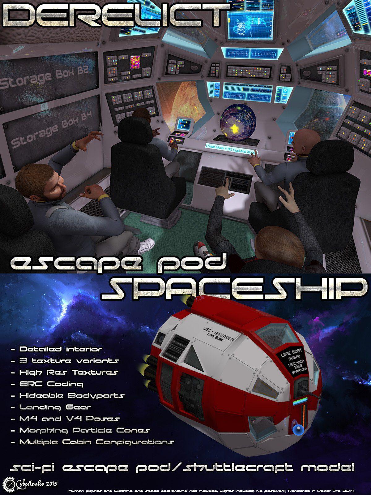 Derelict Spaceship: Escape Pod_DAZ3D下载站