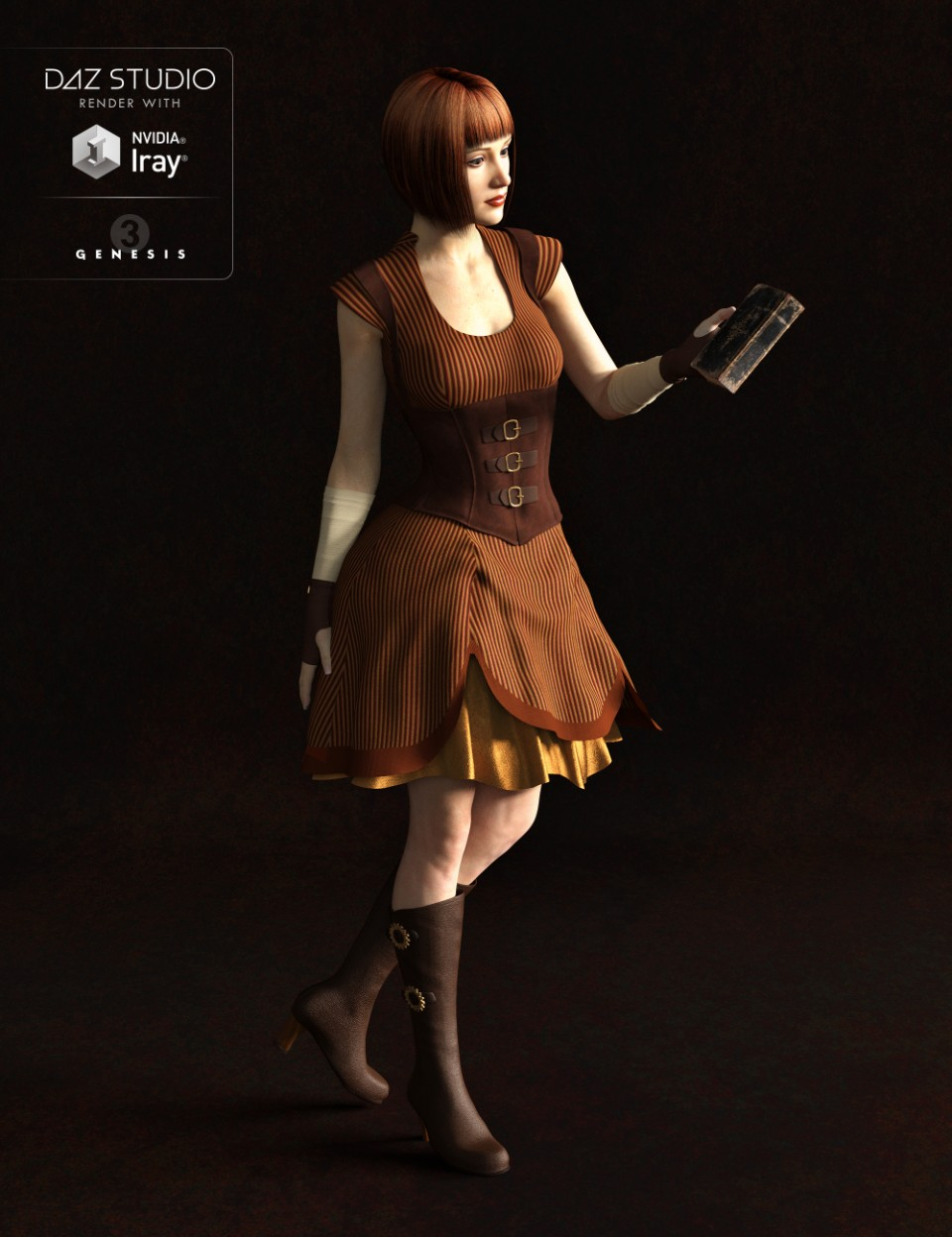 Ernestine Outfit for Genesis 3 Female(s)_DAZ3D下载站