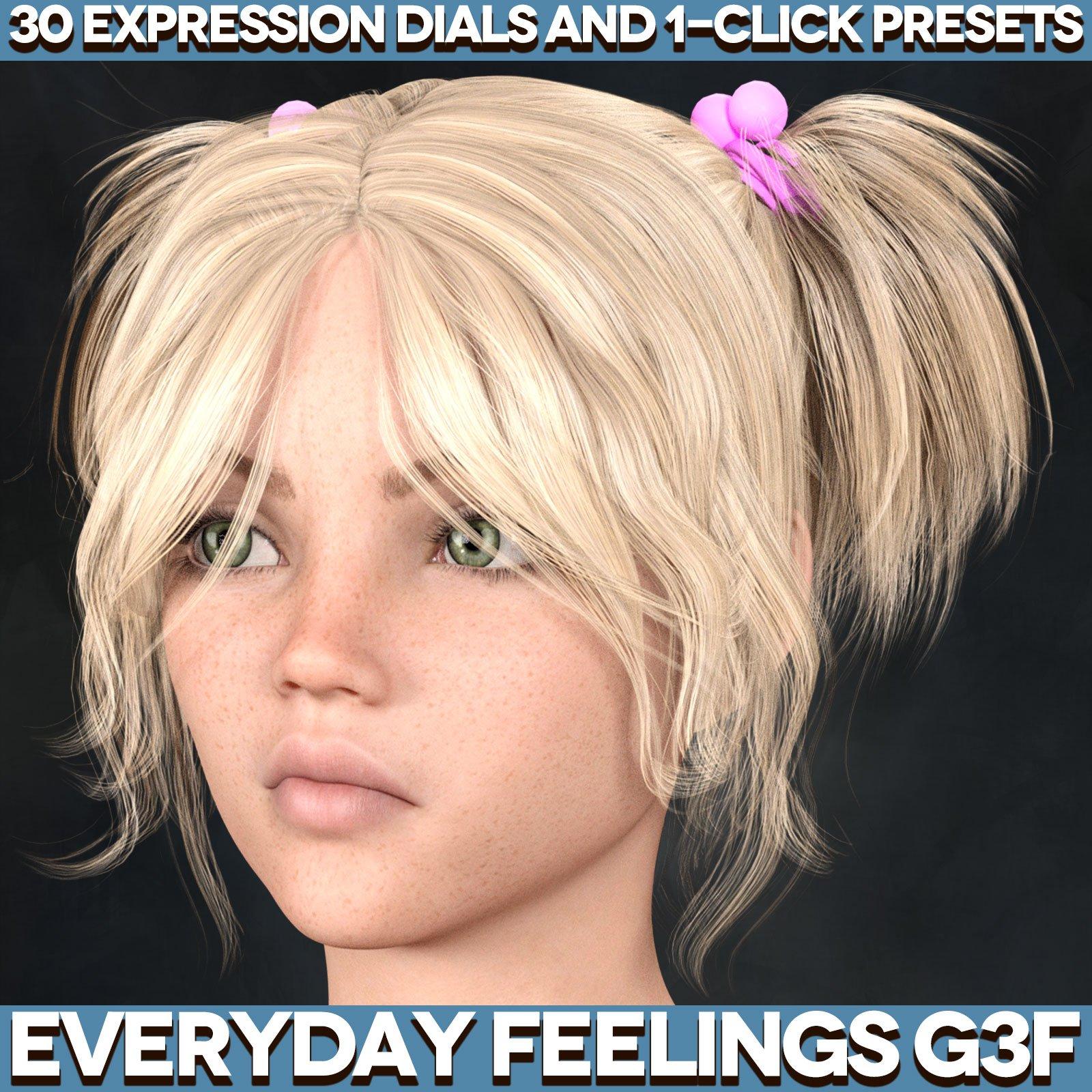 Everyday Feelings for Genesis 3 Female(s)_DAZ3D下载站