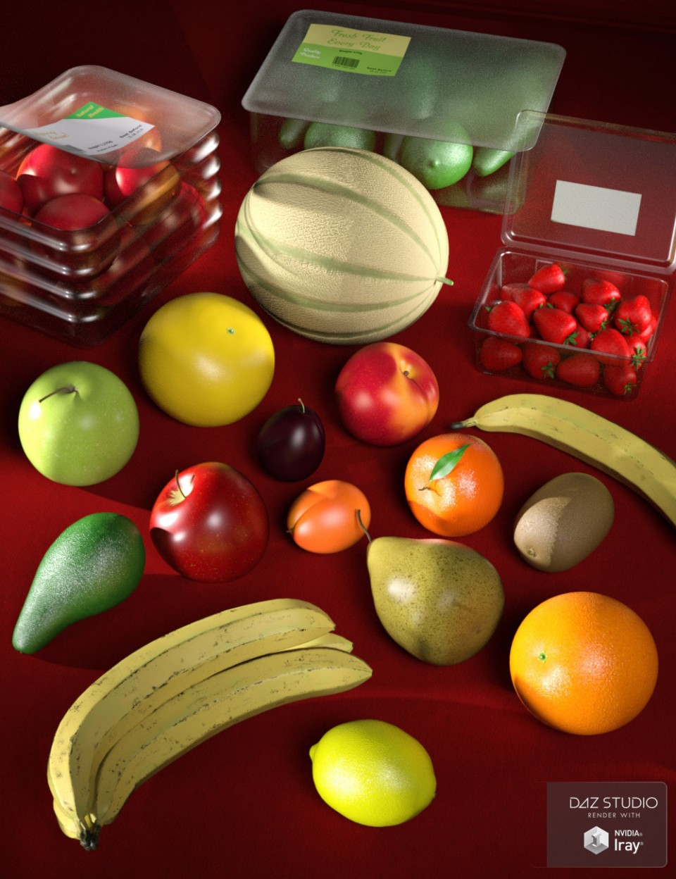 Everyday Fruit_DAZ3D下载站