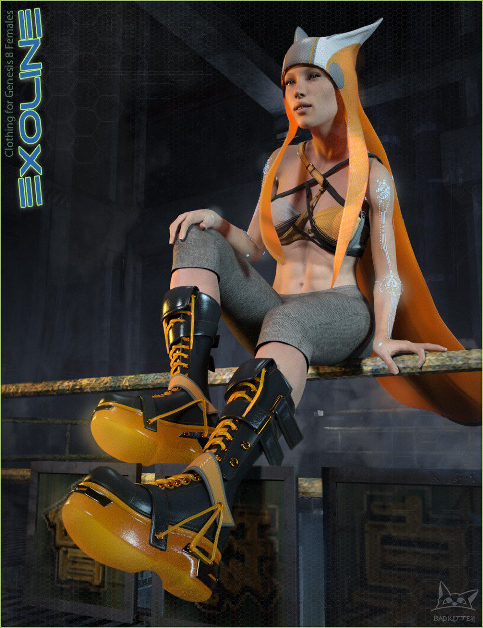 Exoline Boots and Accessories for Genesis 3 Female(s)_DAZ3D下载站