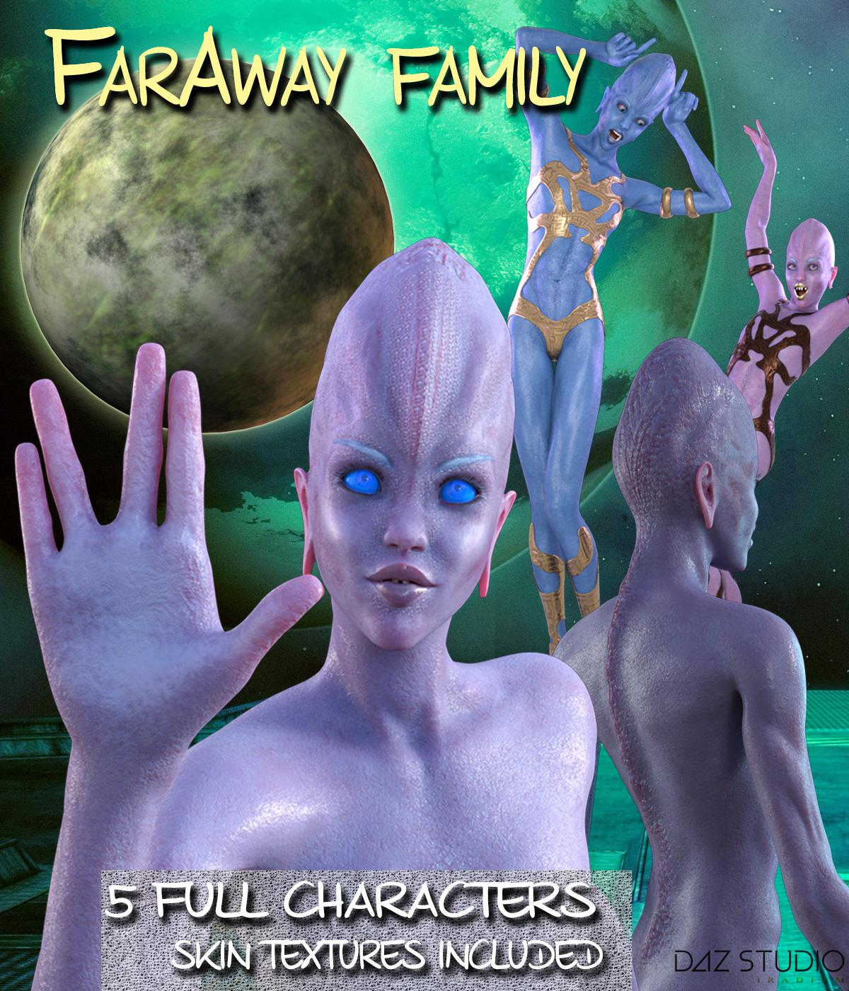 FARAWAY FAMILY for Genesis 3 Female(s)_DAZ3D下载站