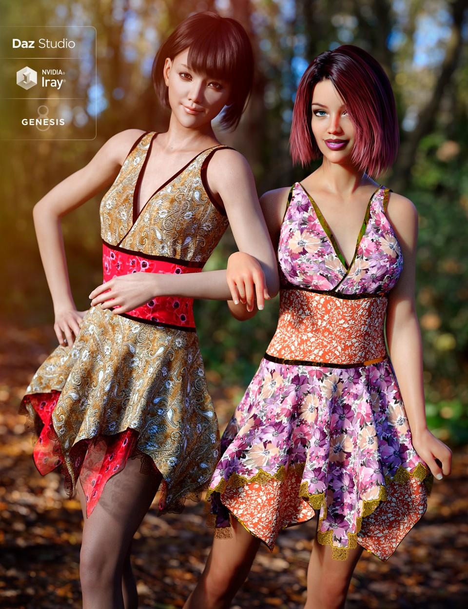 Fall Fun for Hinata Dress_DAZ3D下载站