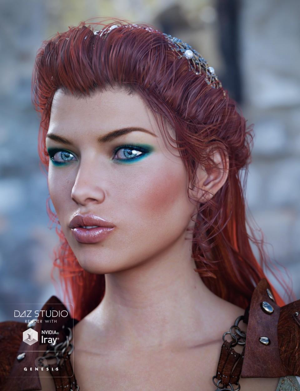 Frawn Hair + Colors for Genesis 3 Female(s)_DAZ3D下载站