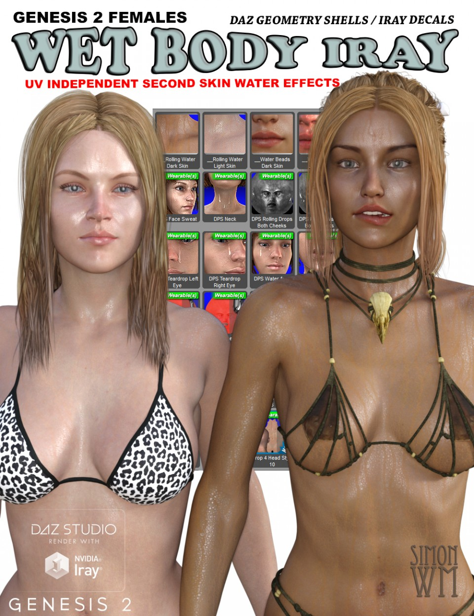 Genesis 2 Female(s) Wet Body Iray_DAZ3D下载站