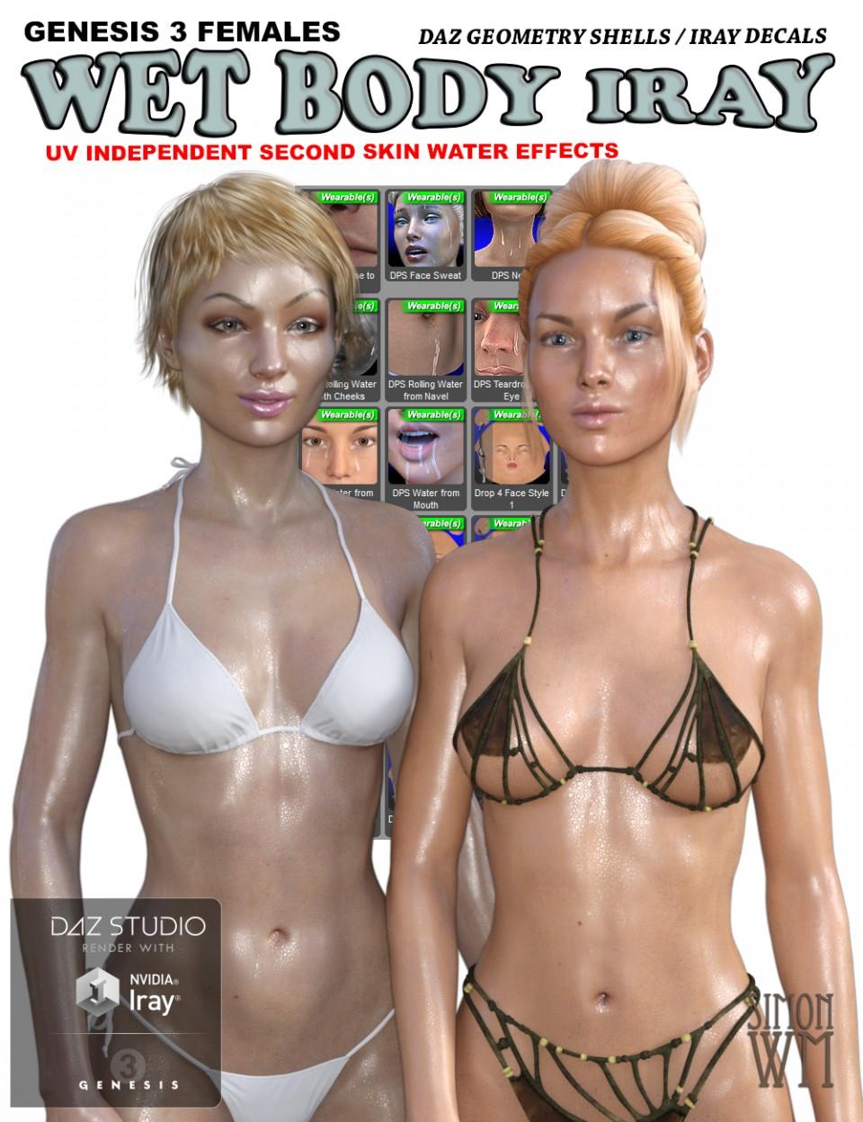 Genesis 3 Female(s) Wet Body Iray_DAZ3D下载站
