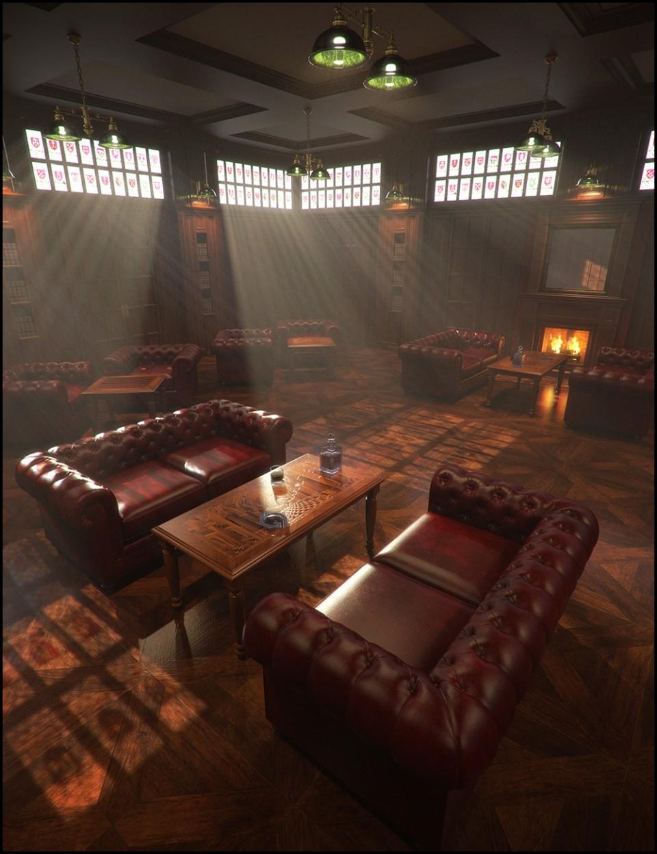 Gentlemen's Game Room Iray Addon_DAZ3D下载站