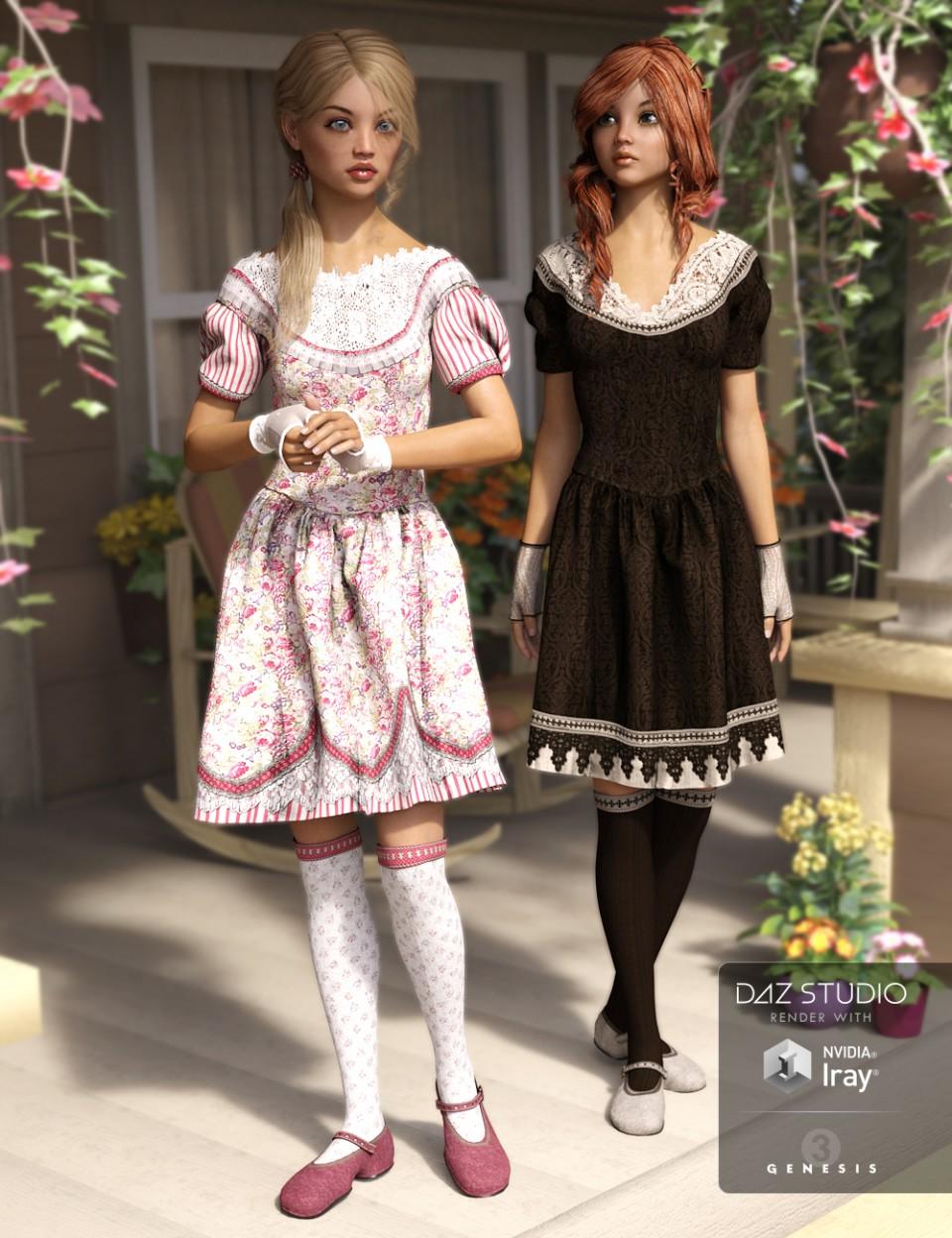 Girlish Fashion_DAZ3D下载站