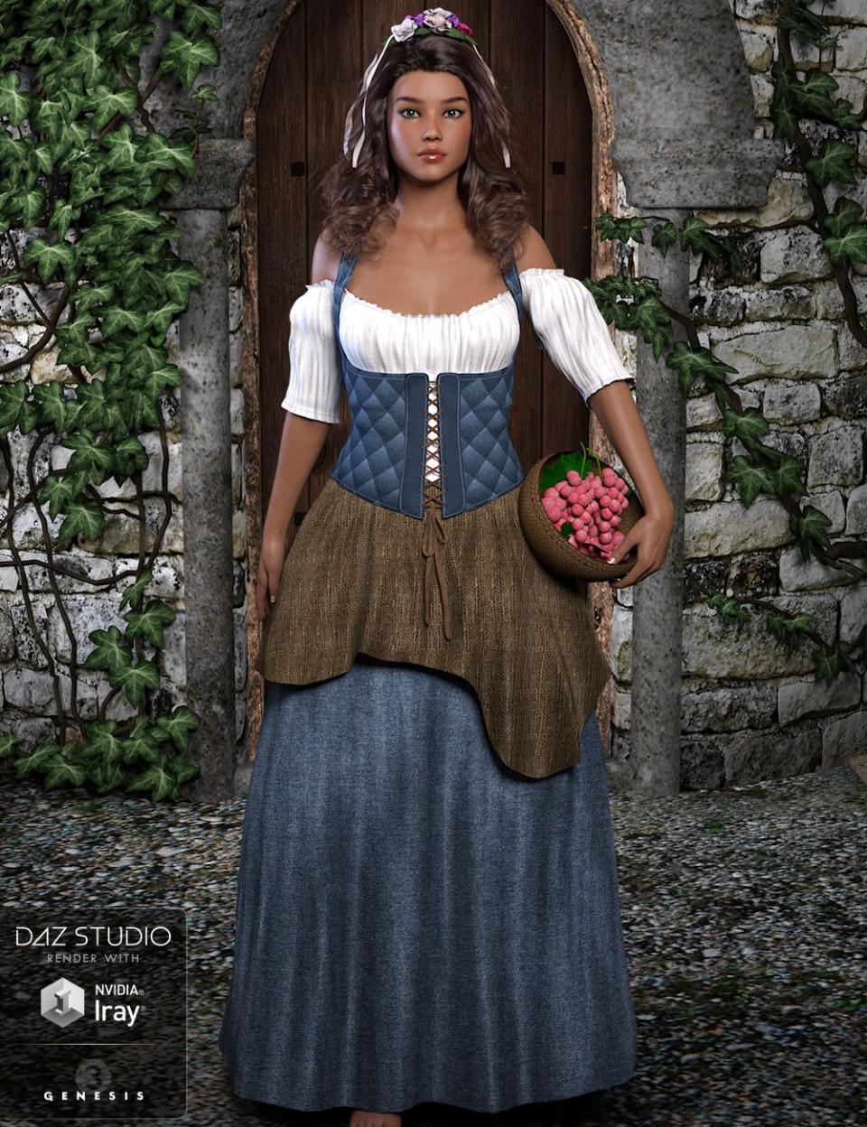 Griselle for Genesis 3 Female(s)_DAZ3D下载站