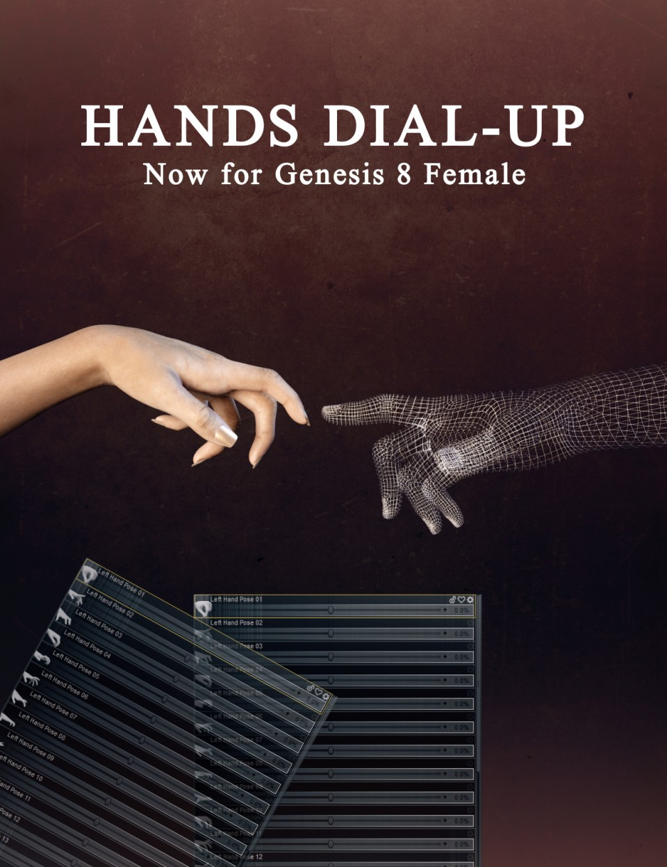 Hands Dial-up for Genesis 8 Female_DAZ3D下载站