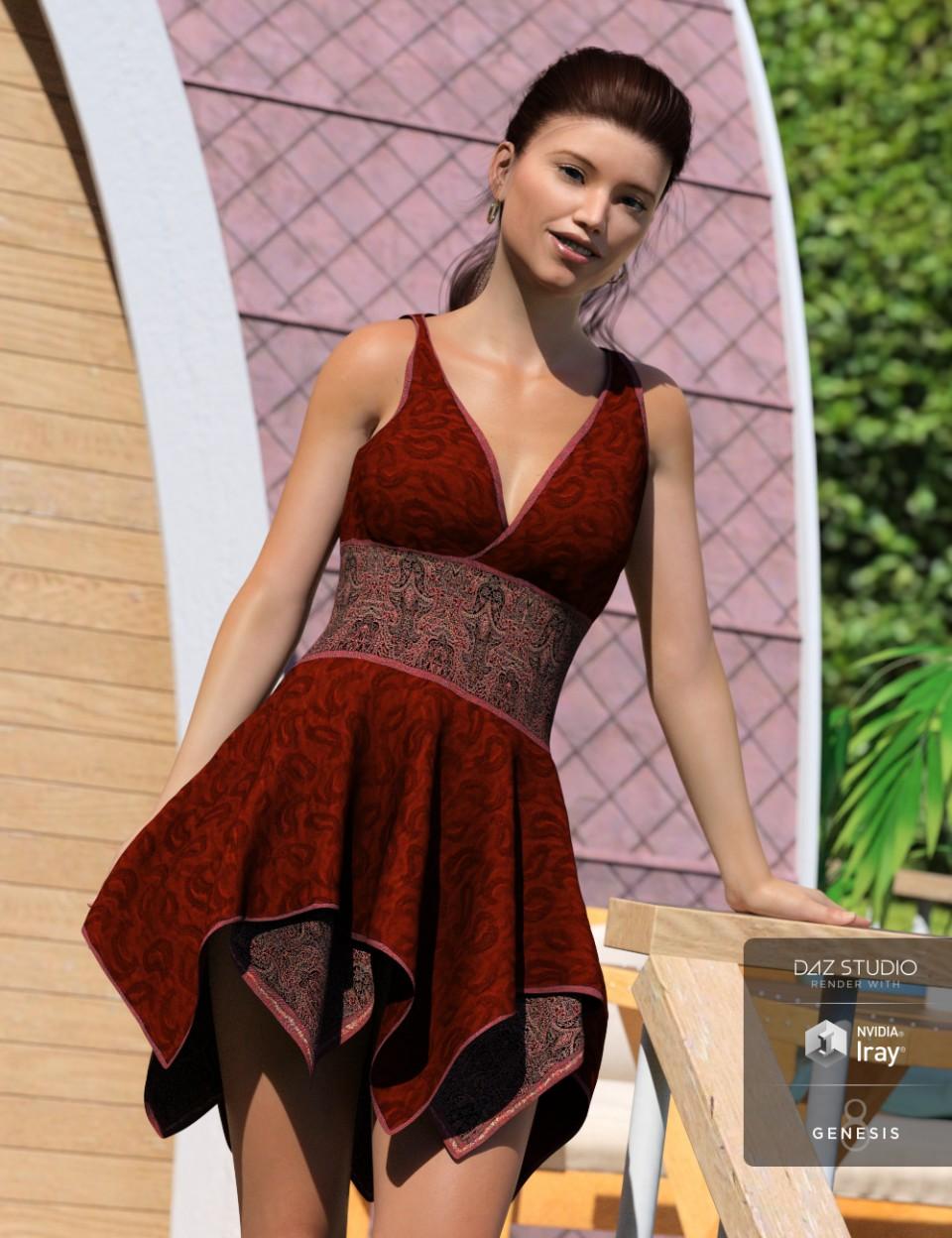 Hinata Dress for Genesis 8 Female(s)_DAZ3D下载站