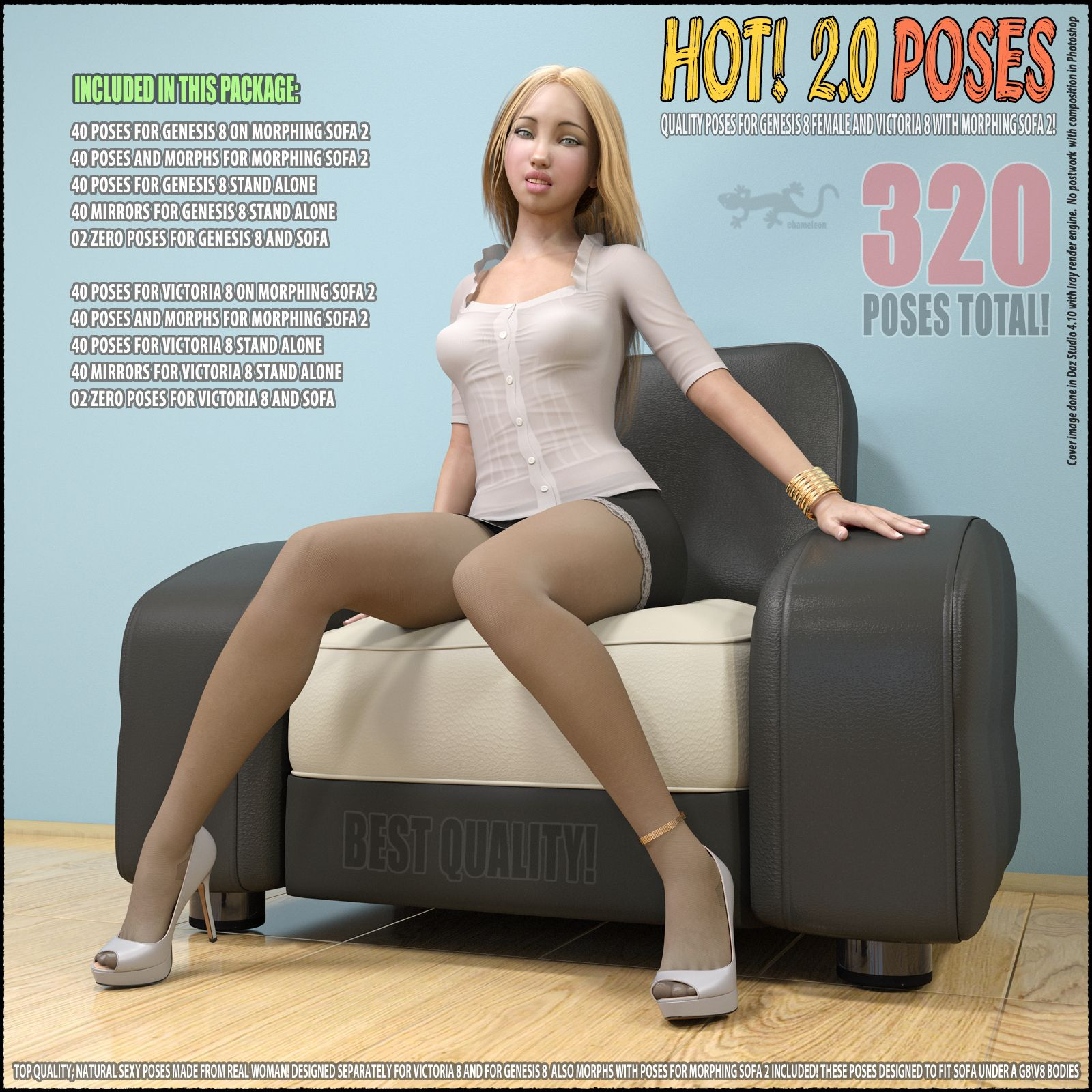 Hot! 2.0 – Poses for G8 and V8_DAZ3D下载站