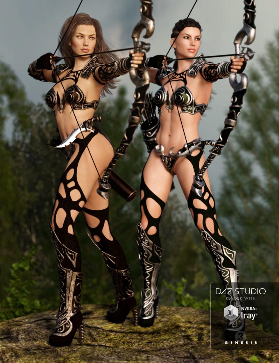 Hunter Queen Textures_DAZ3D下载站