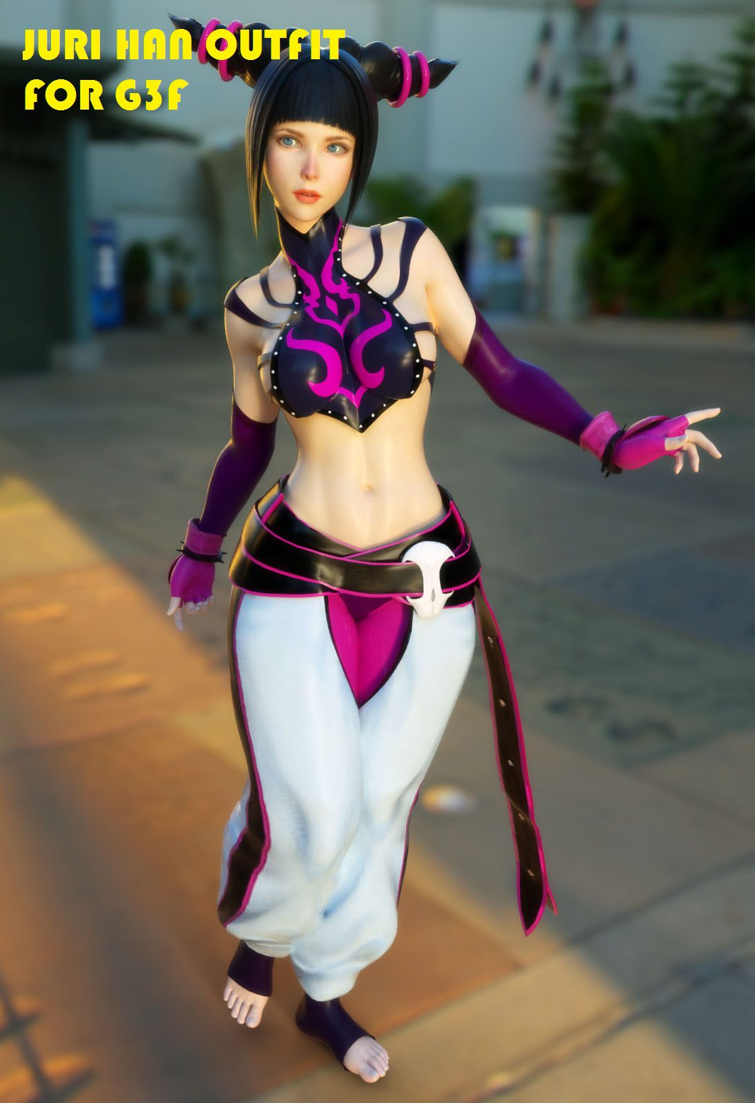 Juri Han Outfit for Genesis 3 Female