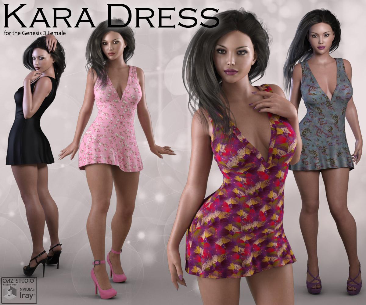 Kara Dress for Genesis 3_DAZ3D下载站