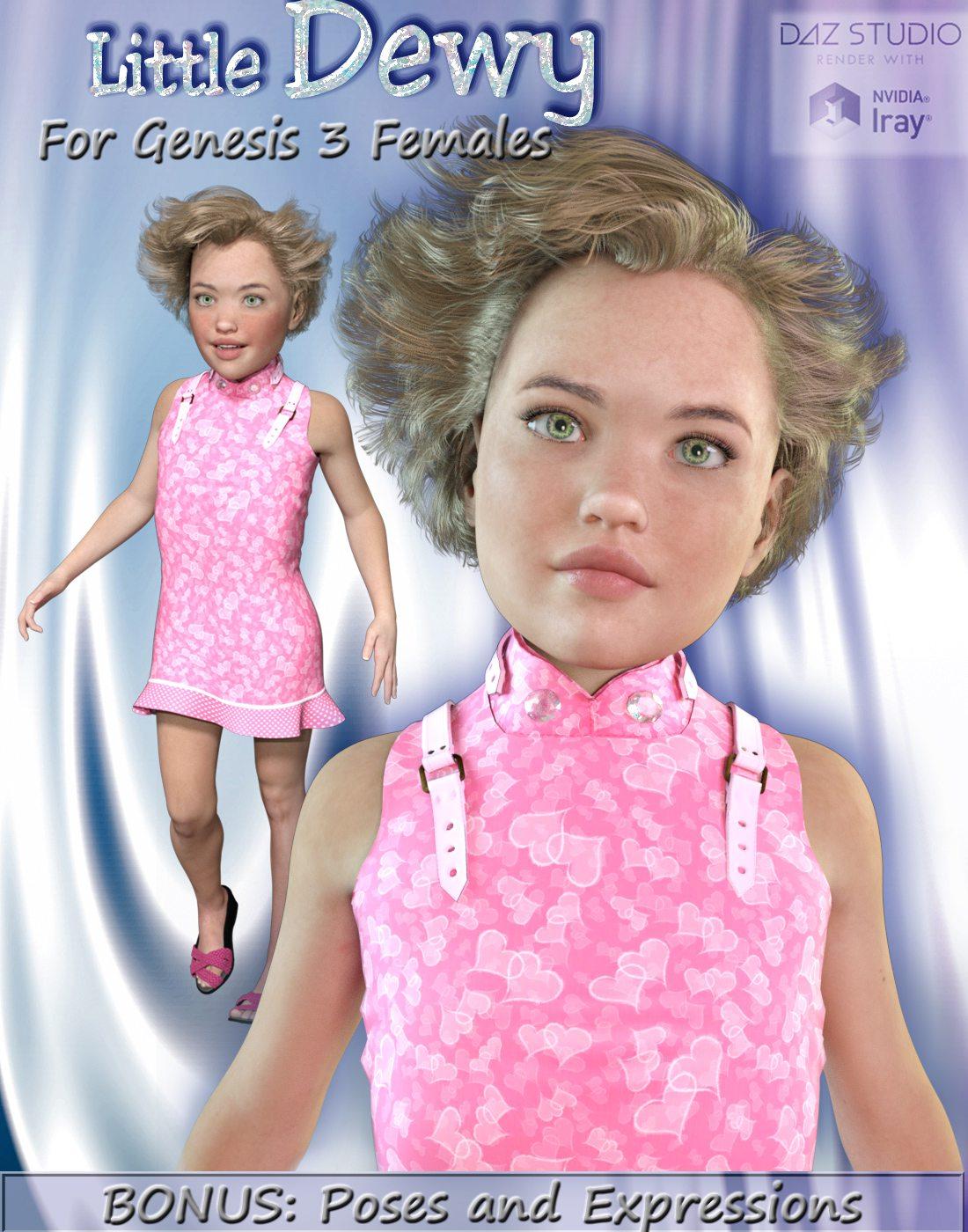 LITTLE DEWY for Genesis 3 Female(s)_DAZ3D下载站