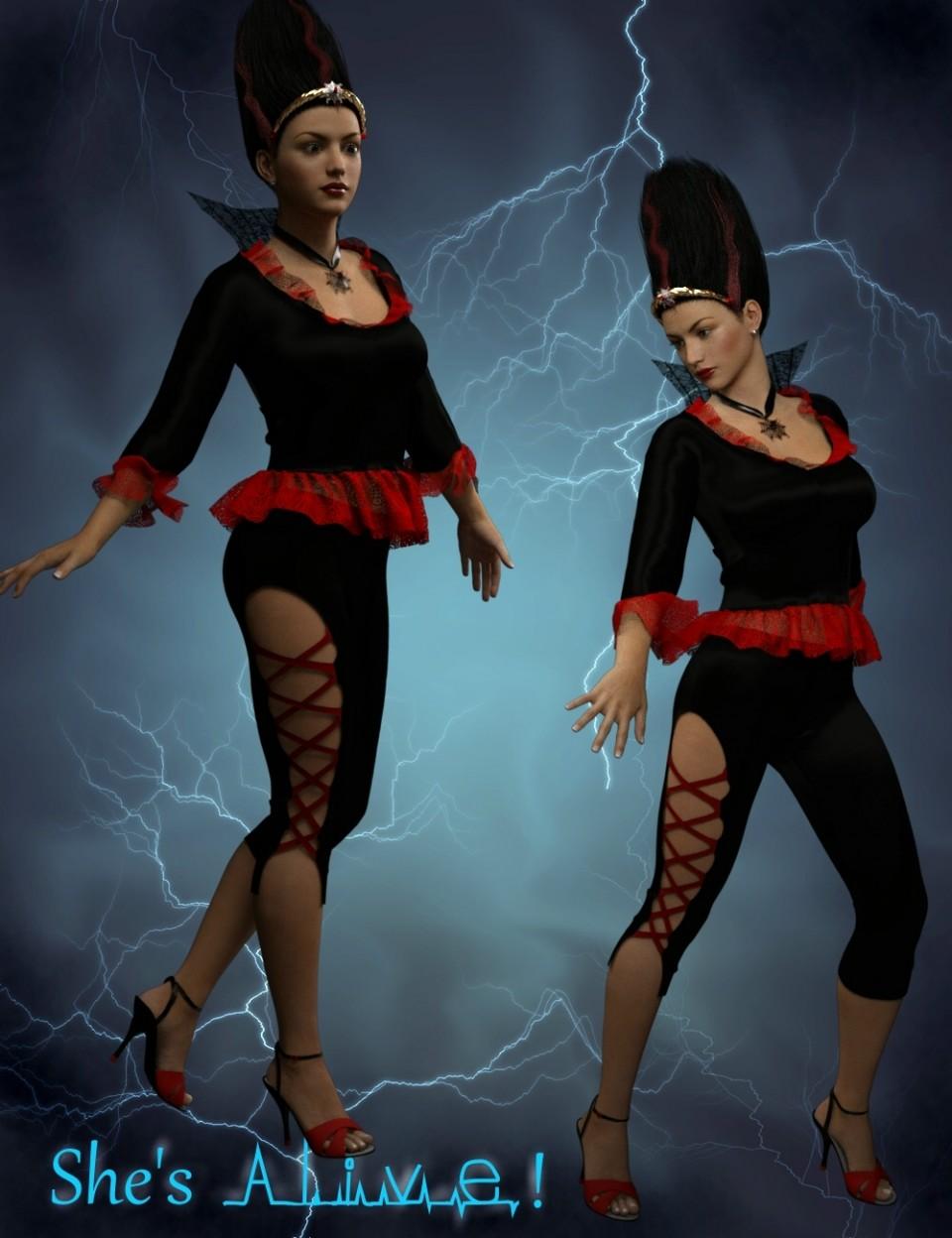 MadBride Outfit for Genesis 3 Female(s)_DAZ3D下载站