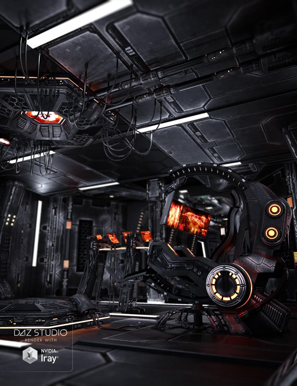 Marcoor Control Room Aged_DAZ3D下载站