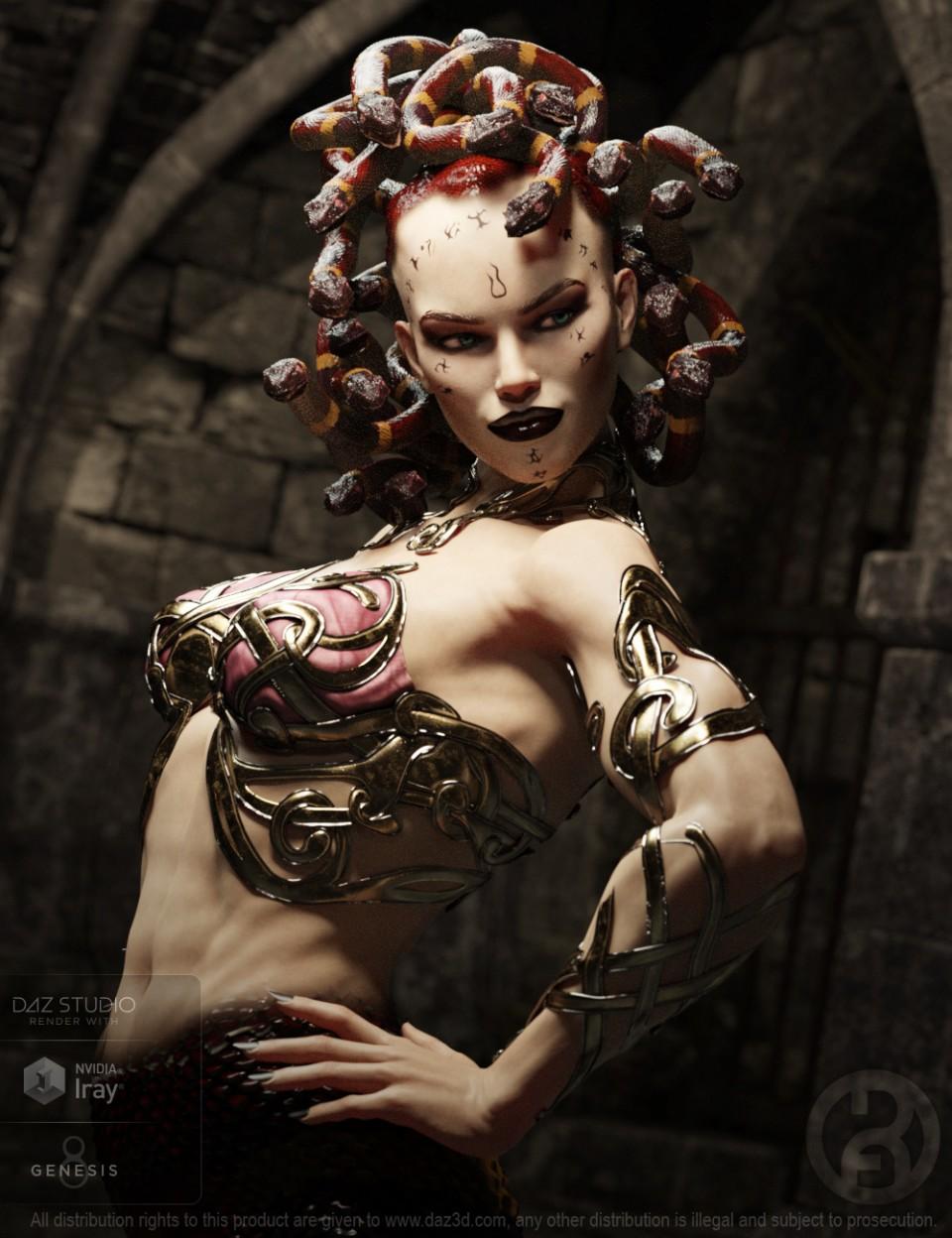 Medusa Maker for Genesis 8 Female_DAZ3D下载站