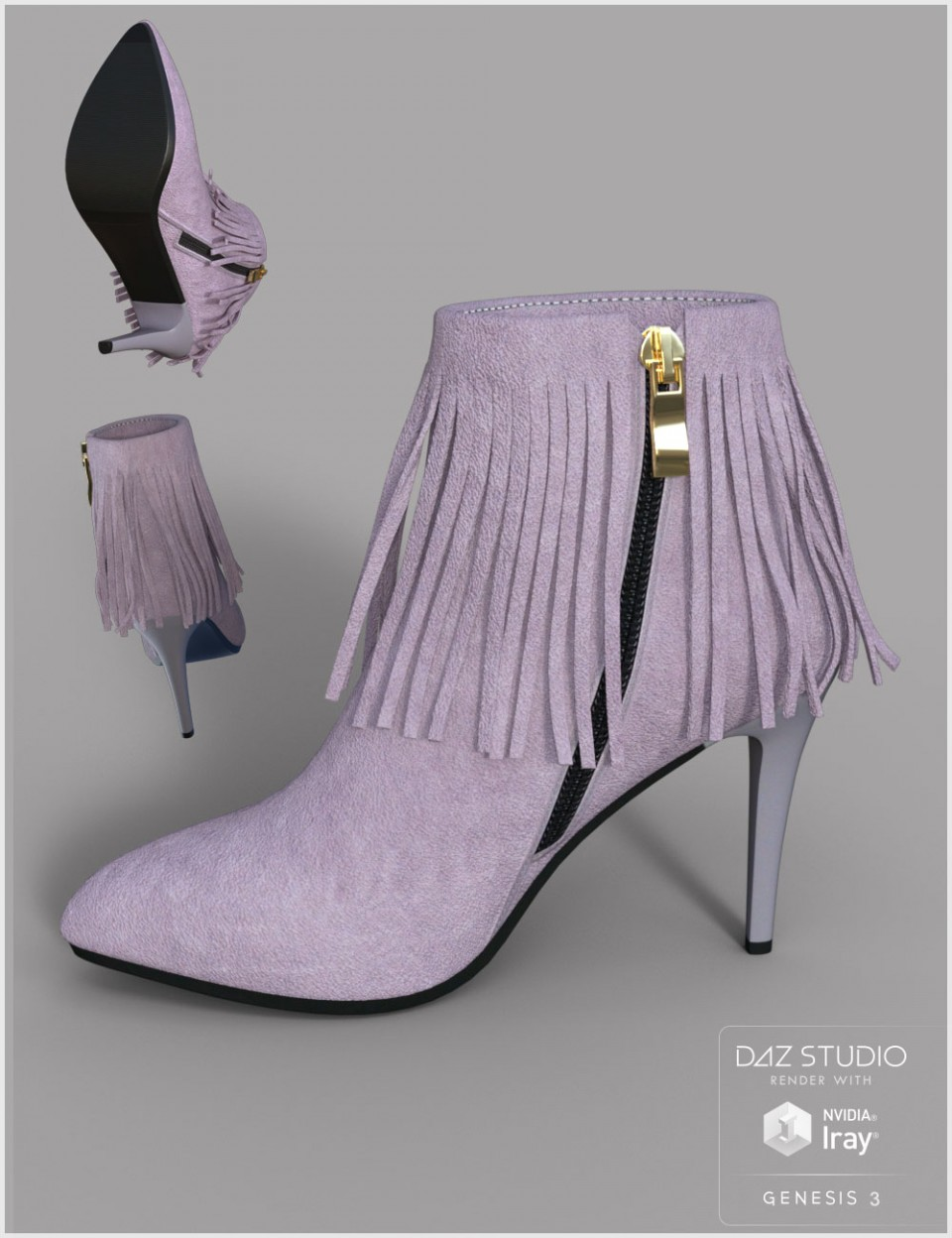 Modern Heel for Genesis 2 & 3 Female(s)_DAZ3D下载站
