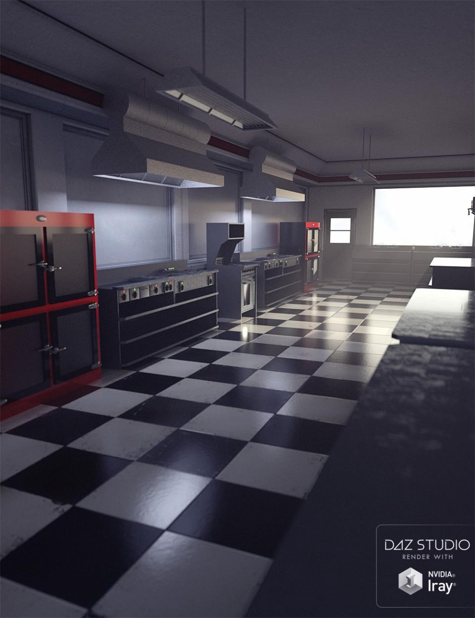 Moonshine Diner Kitchen Accessories_DAZ3D下载站