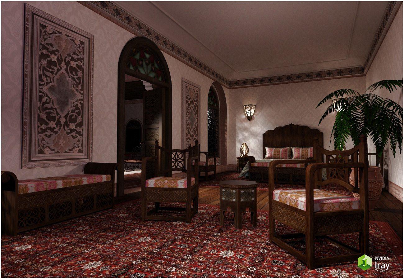 Moroccan Riad Bedroom_DAZ3D下载站