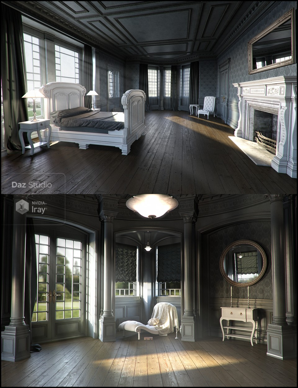 Neoclassical for Rural Chateau I – III_DAZ3D下载站