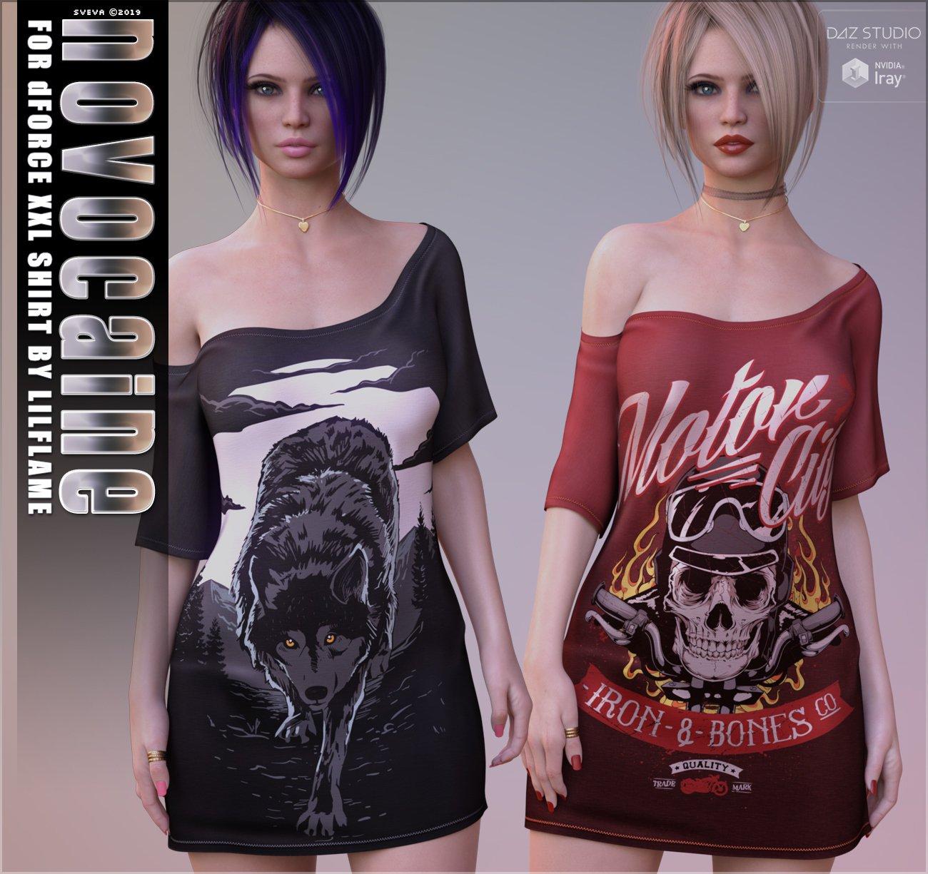 Novocaine for dForce XXL Shirt_DAZ3D下载站