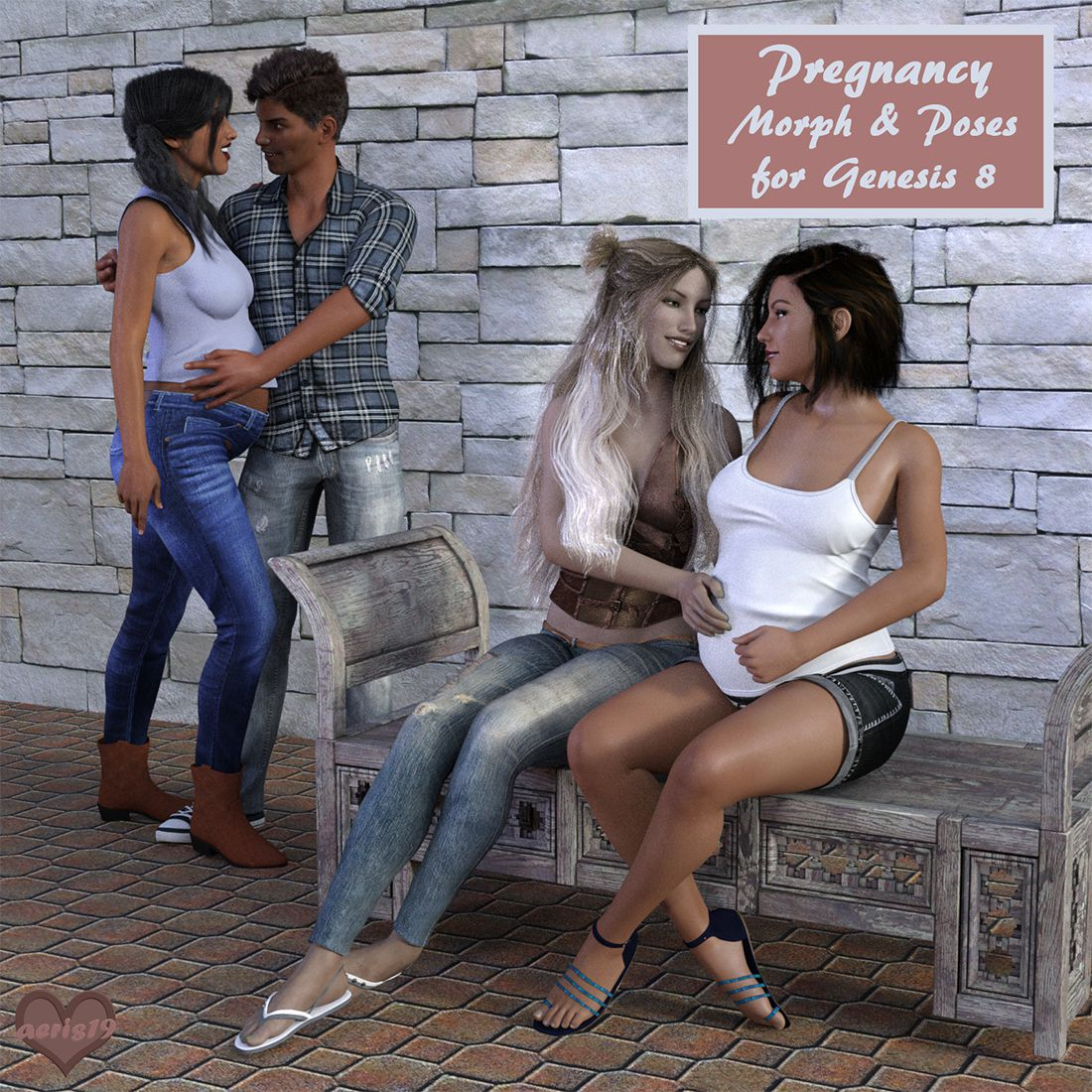 Pregnancy Morph and Poses for G8_DAZ3D下载站