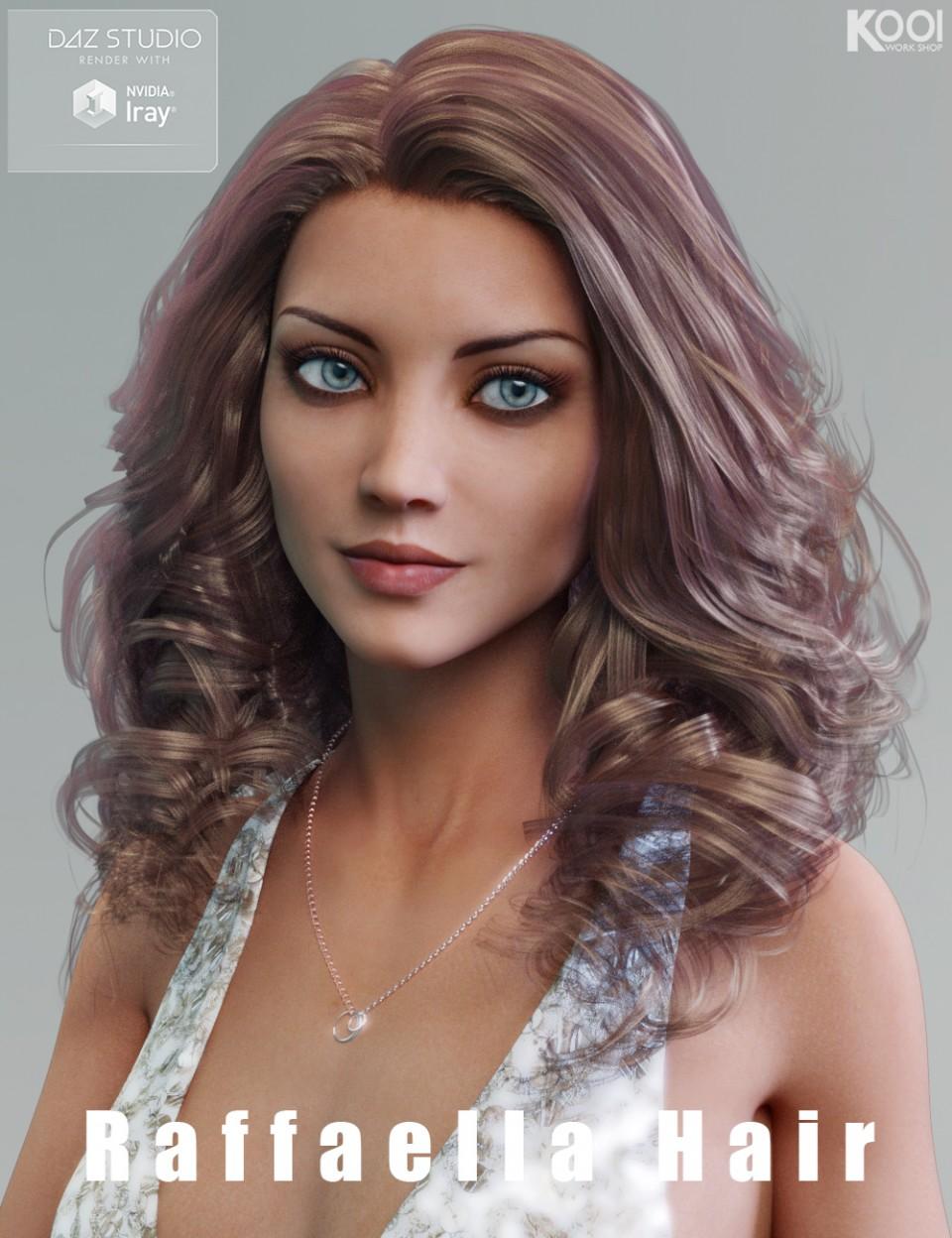 Raffaella Hair for Genesis 3 Female(s)_DAZ3D下载站