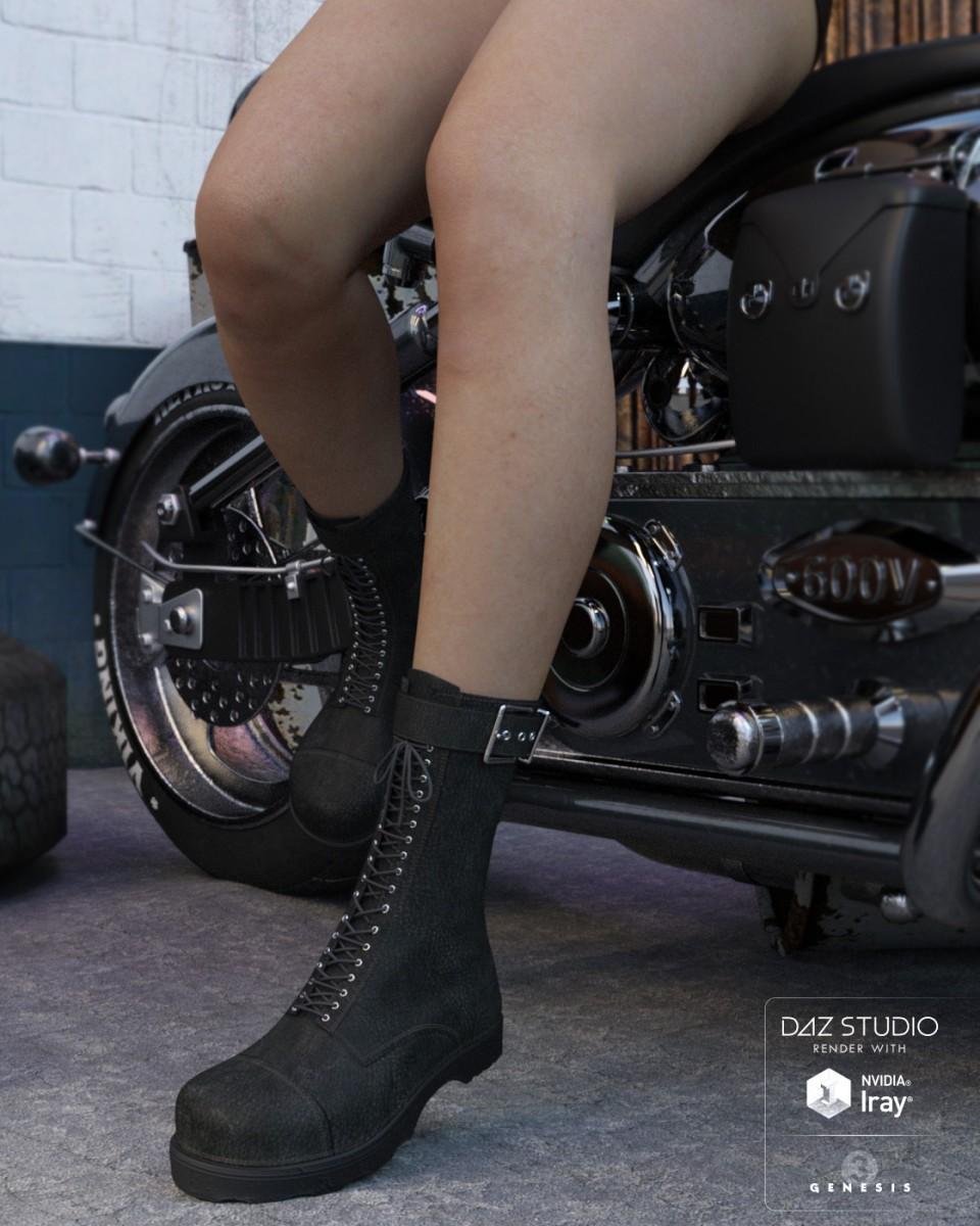 Rider Boots for Genesis 3 Female(s)_DAZ3D下载站