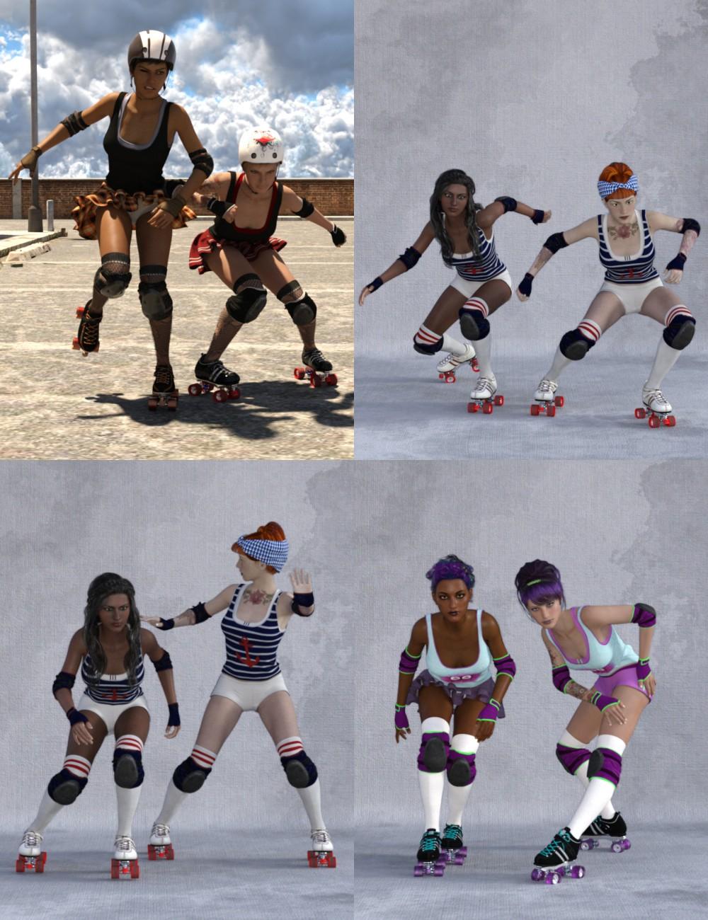 Roller Derby Poses for Genesis 3 Female(s)_DAZ3D下载站