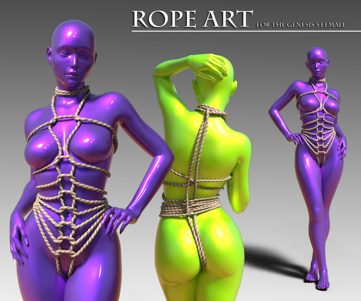 Rope Art Outfit for G3F_DAZ3D下载站