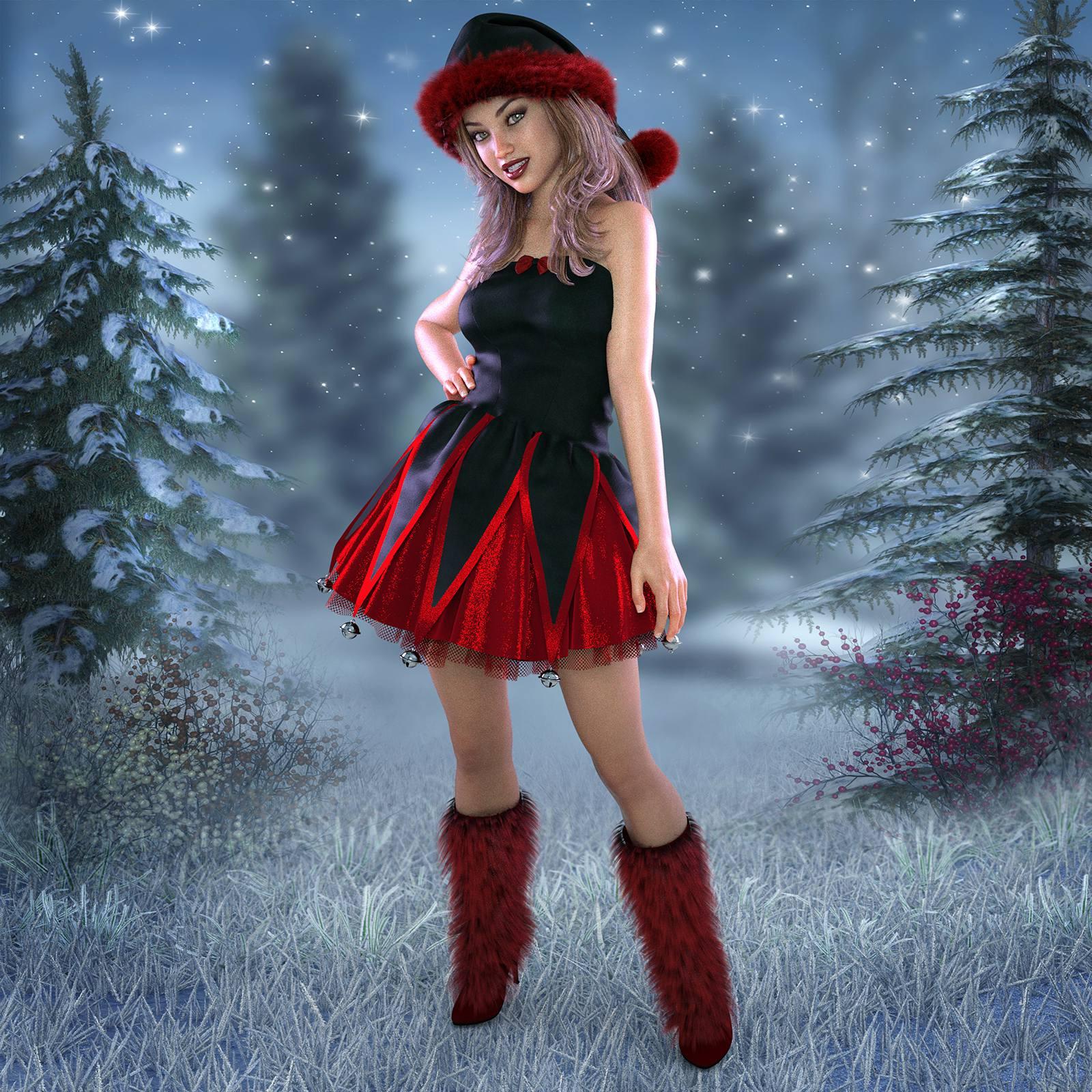 Santa's Helpers Vol 1 for Genesis 8 Female_DAZ3D下载站