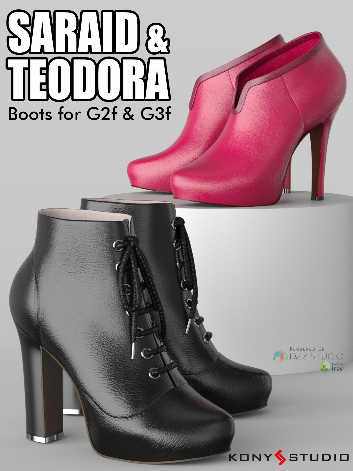 Saraid & Teodora Boots for G2F and G3F_DAZ3D下载站