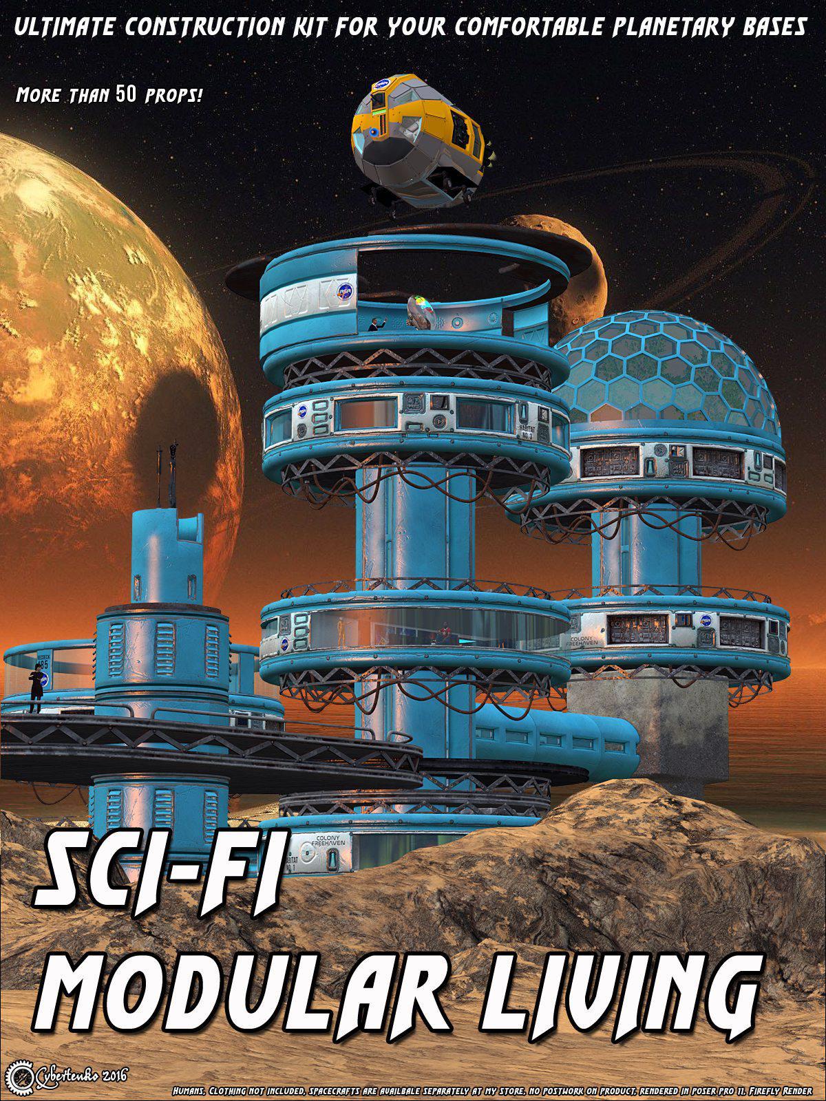 Sci-Fi Modular Living_DAZ3D下载站