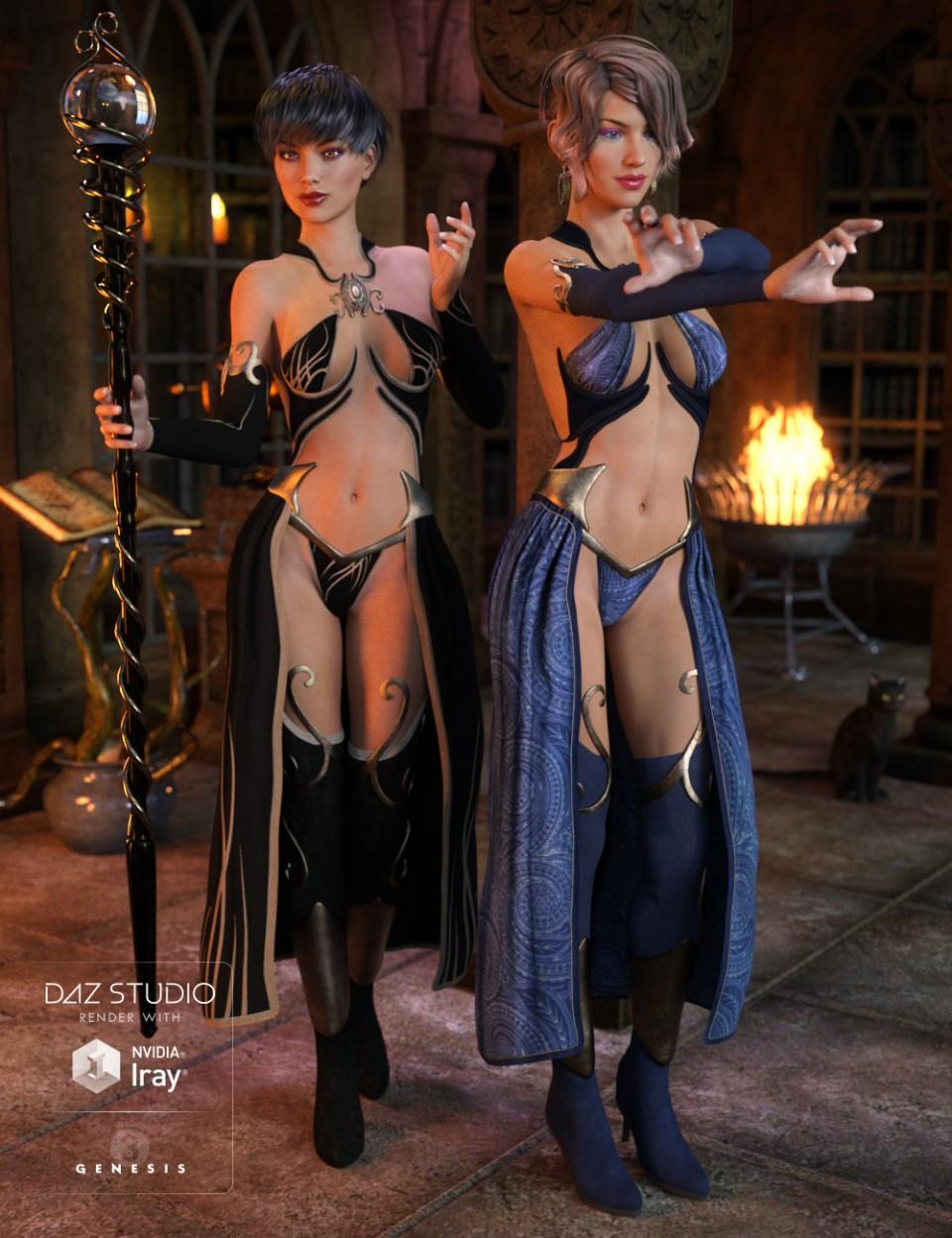 Sexy Sorceress Textures_DAZ3D下载站