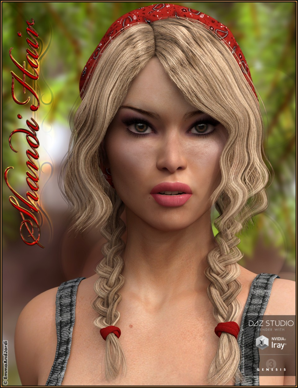 Shandi Hair for Genesis 3 Female(s)_DAZ3D下载站
