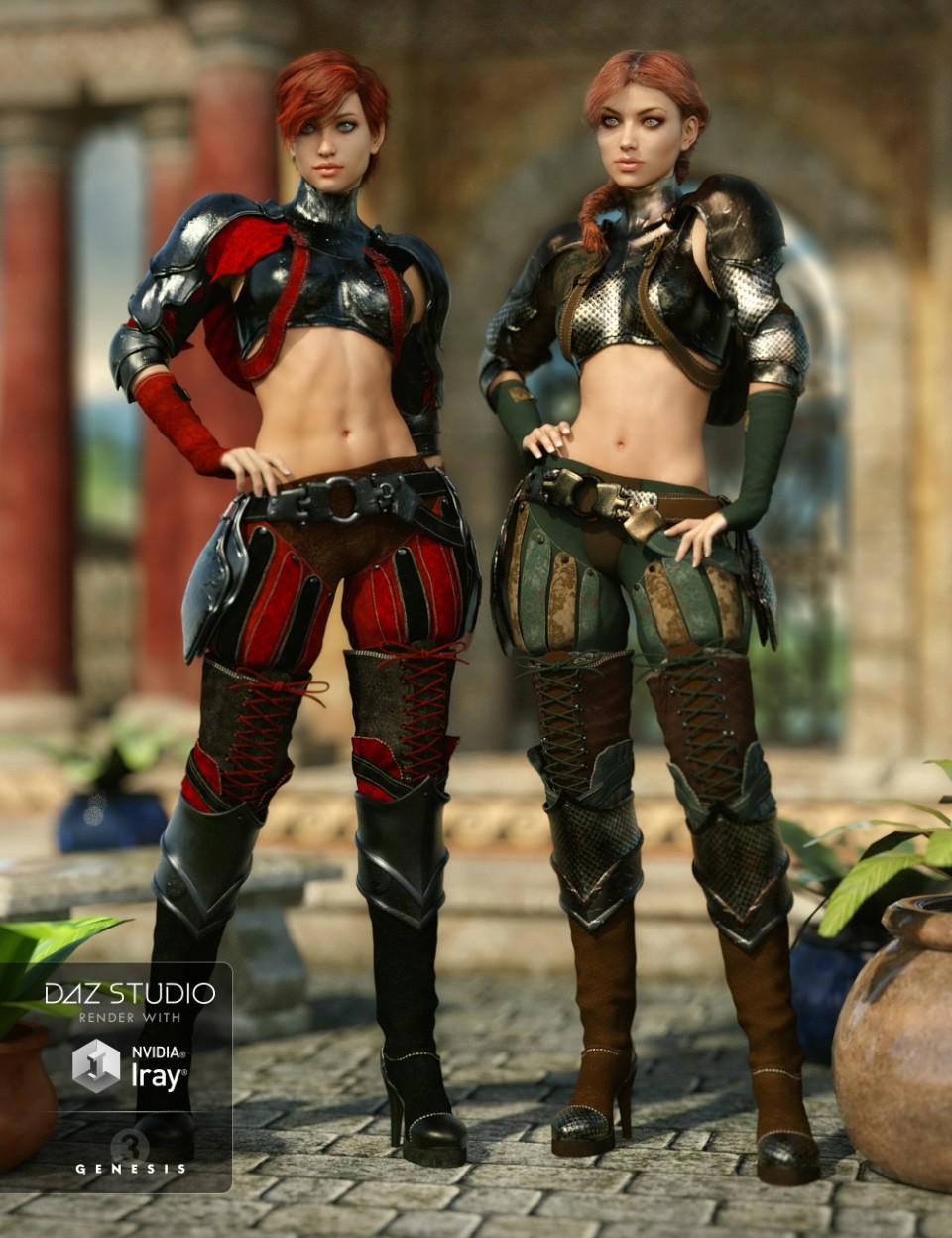 Solaris Outfit Textures G3F_DAZ3D下载站