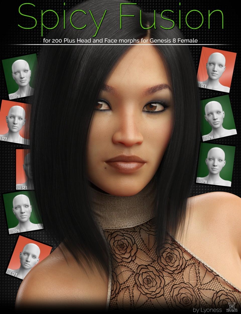 Spicy Fusion for 200 Plus for Genesis 8 Female_DAZ3D下载站