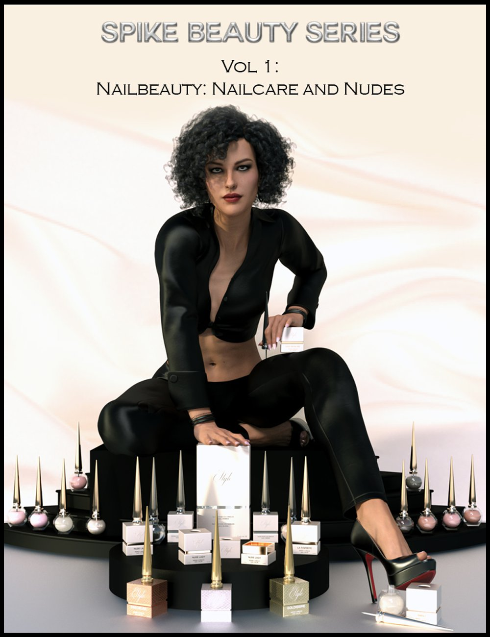 Spike Beauty Set Vol. 1: Nailcare, Nudes and Metallic Nudes_DAZ3D下载站