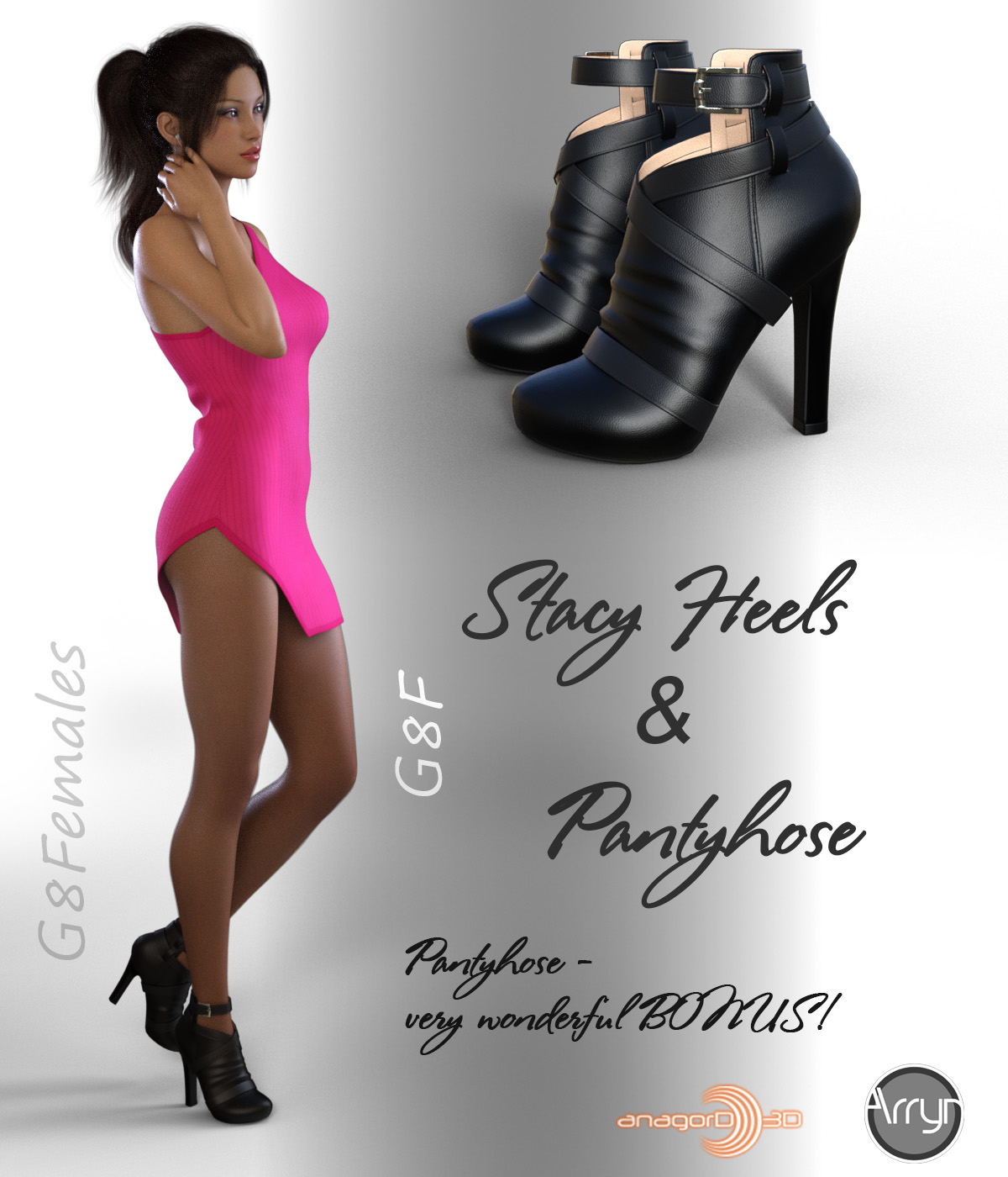 Stacy Heels and Pantyhose G8F_DAZ3D下载站
