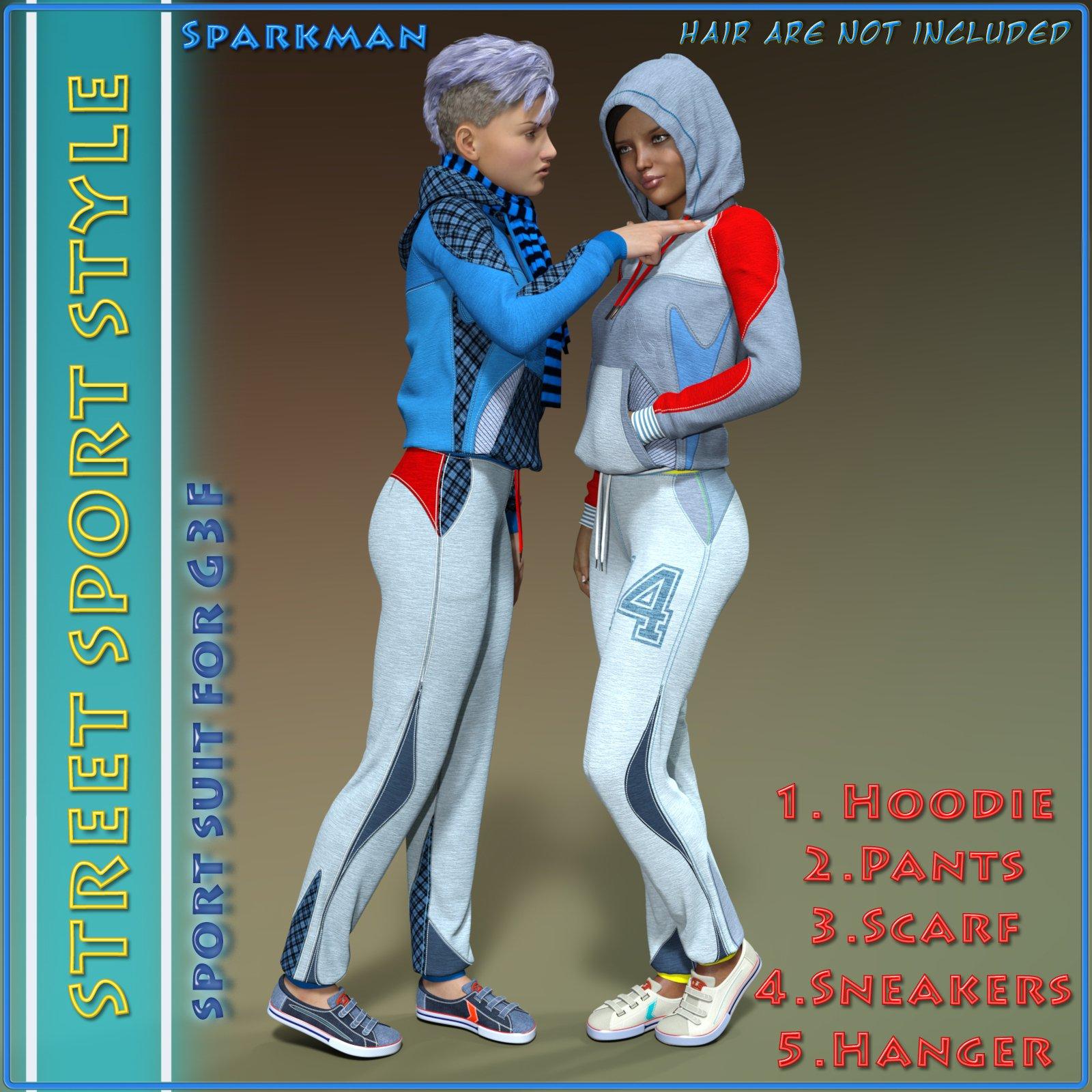 Street Sport Style: Sports Suit for Genesis 3 Female(s)_DAZ3D下载站
