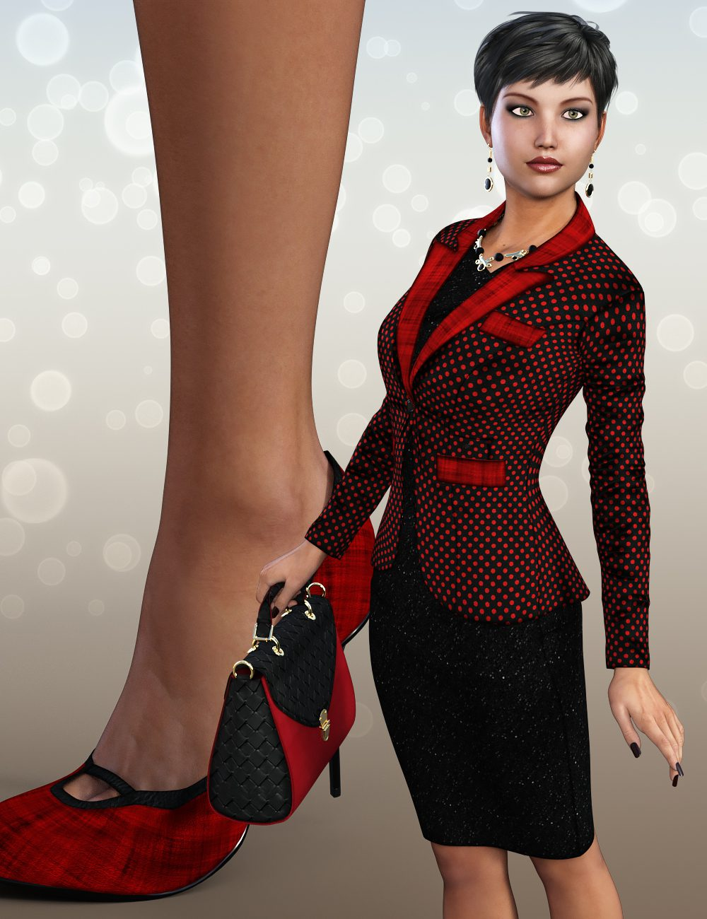 Sublime Couture for Business Outfit Genesis 3 Female(s)_DAZ3D下载站