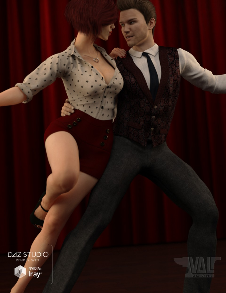 Swingsation Poses and Expressions for Genesis 3 Female and Male_DAZ3D下载站