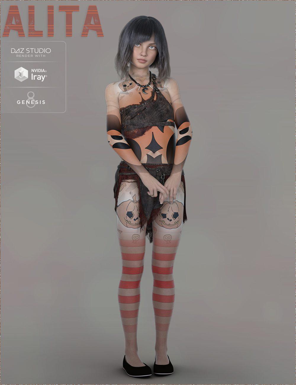 TDT-Alita for Genesis 8 Female_DAZ3D下载站